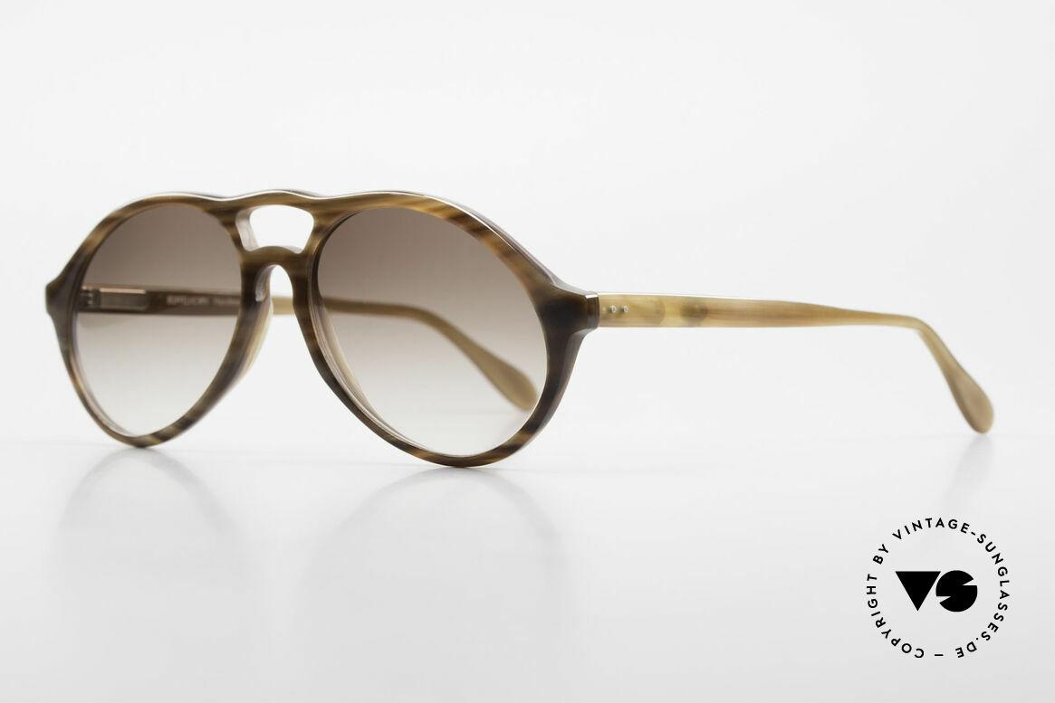 Bugatti 64852 Echt Büffelhorn Brille Vintage, echte Rarität (in Handarbeit gefertigt); Sammlerstück, Passend für Herren