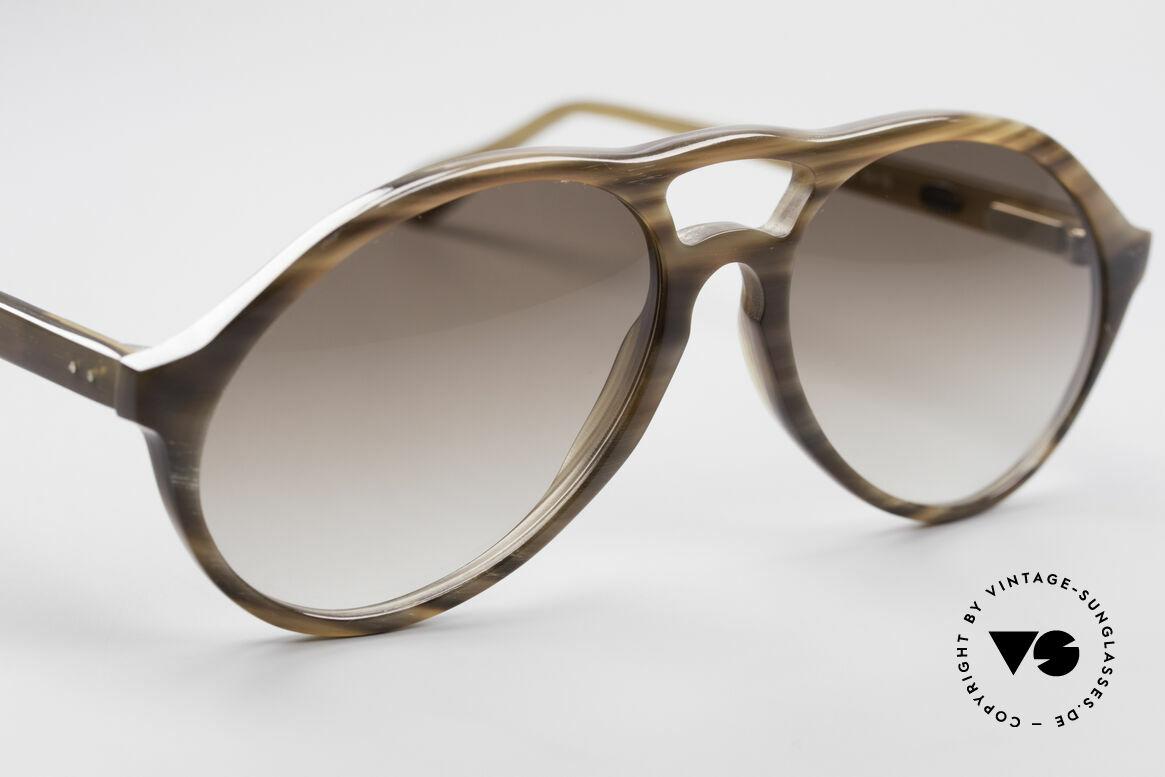 Bugatti 64852 Echt Büffelhorn Brille Vintage, einzigartiger Rahmen, jedes Horn-Modell ist individuell, Passend für Herren