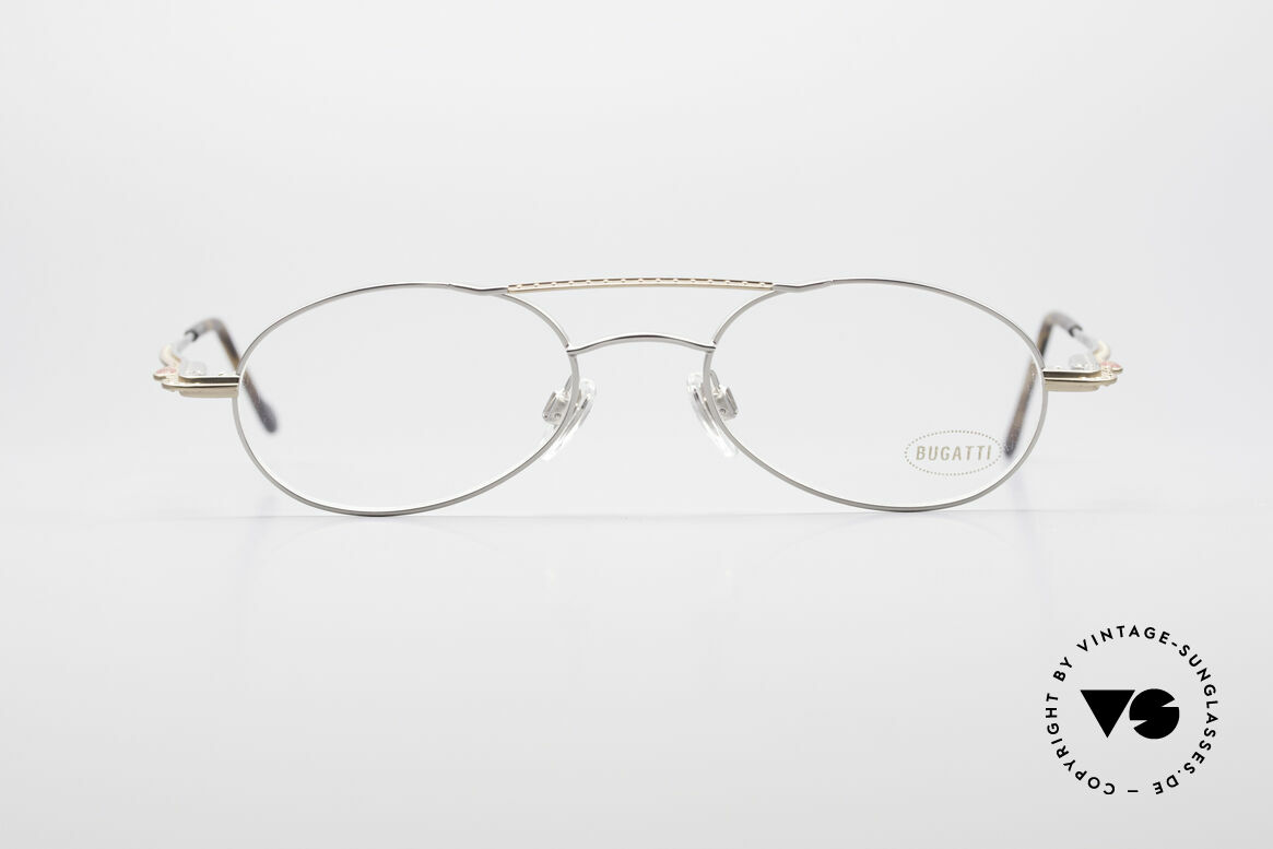 Bugatti 22939 90er Herren Luxusbrille, sehr elegante vintage BUGATTI Brillenfassung, Passend für Herren