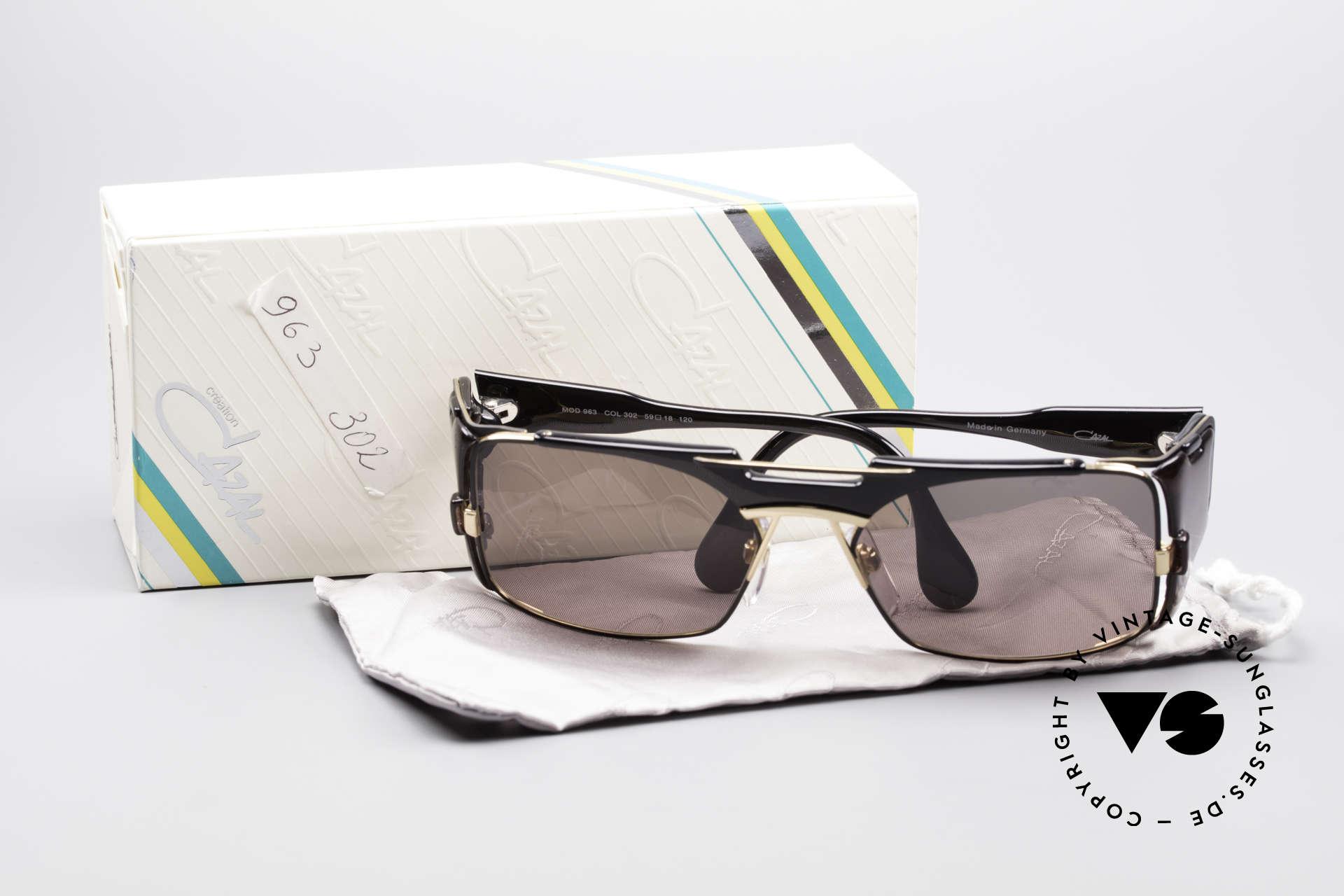 Cazal 963 Old School Hip Hop Brille, Größe: large, Passend für Herren und Damen