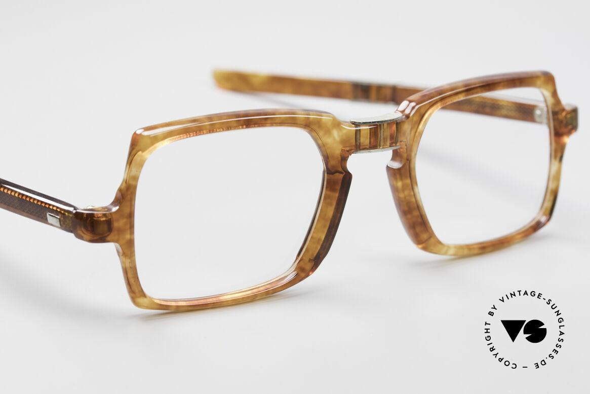 Meyro 618 70er Jahre Faltbrille, tolles Material ... glänzt wie echter Bernstein, Passend für Herren