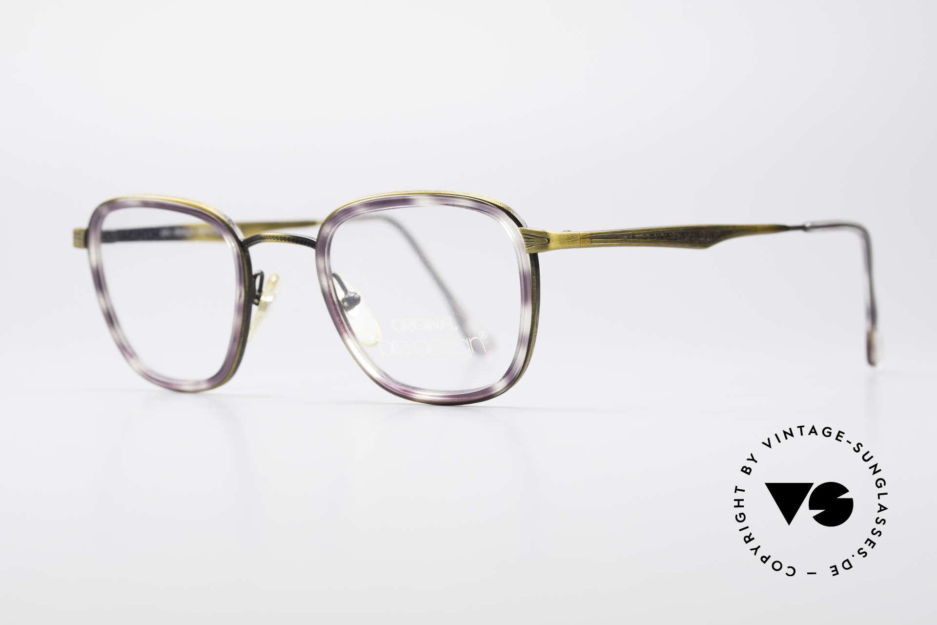 ProDesign Denmark Club 88A Vintage Brille, Brücke & Metallbügel mit aufwändigen Gravuren, Passend für Herren