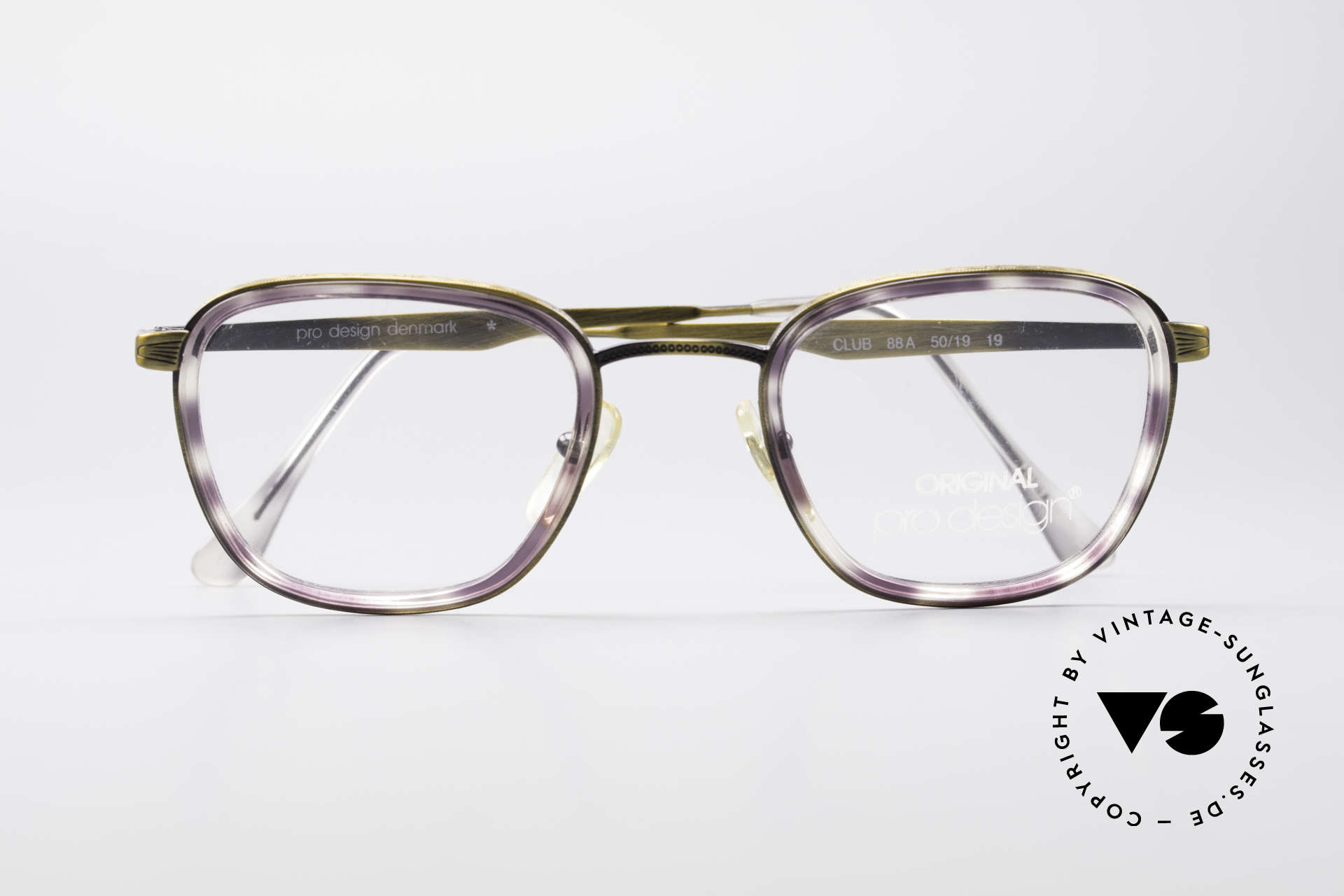 ProDesign Denmark Club 88A Vintage Brille, KEINE RETROBRILLE, sondern ein 90er ORIGINAL!, Passend für Herren