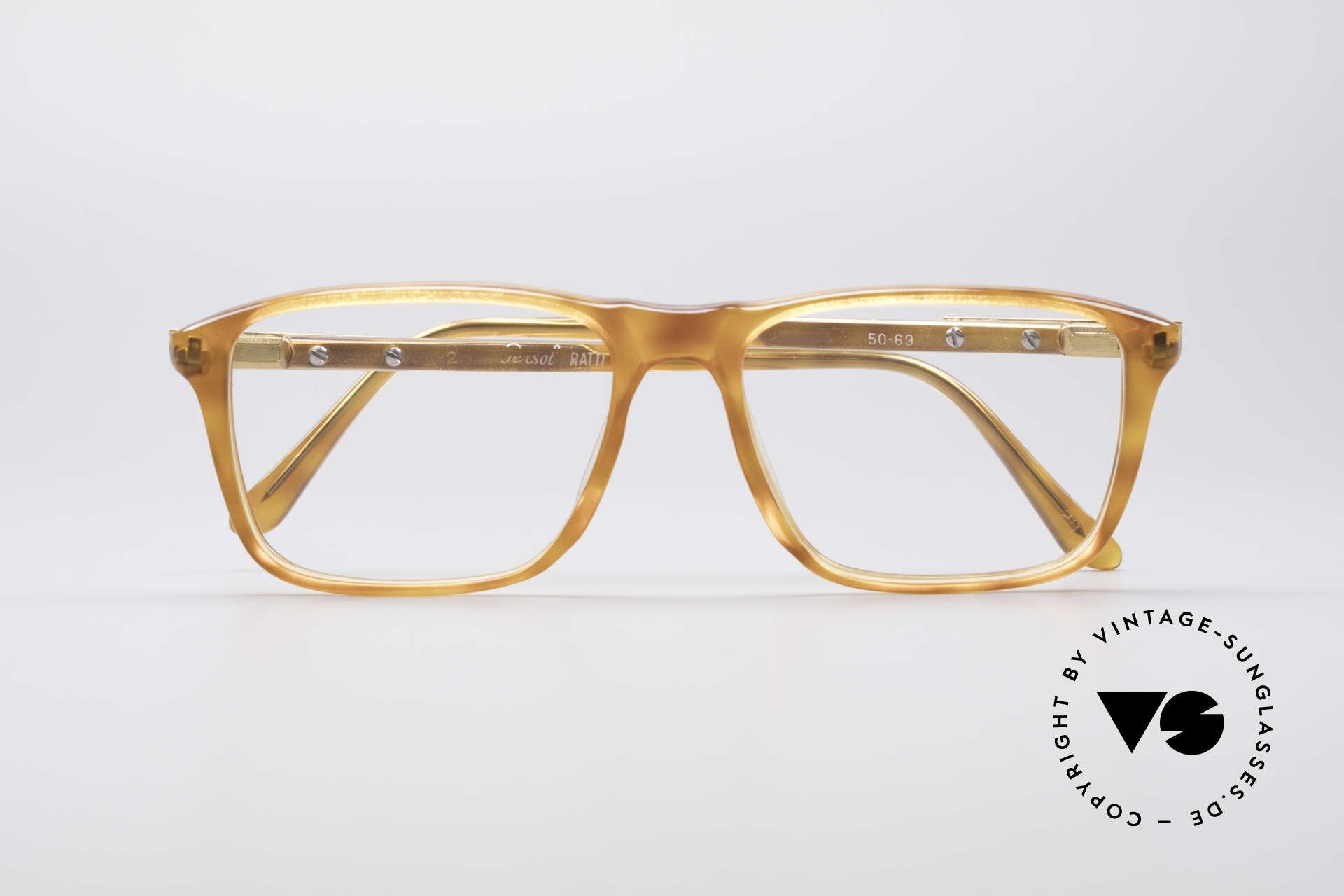 Persol Manager 13 Ratti Vergoldete 80er Brille, KEINE Retrobrille; ein kostbares ORIGINAL von 1983!, Passend für Herren