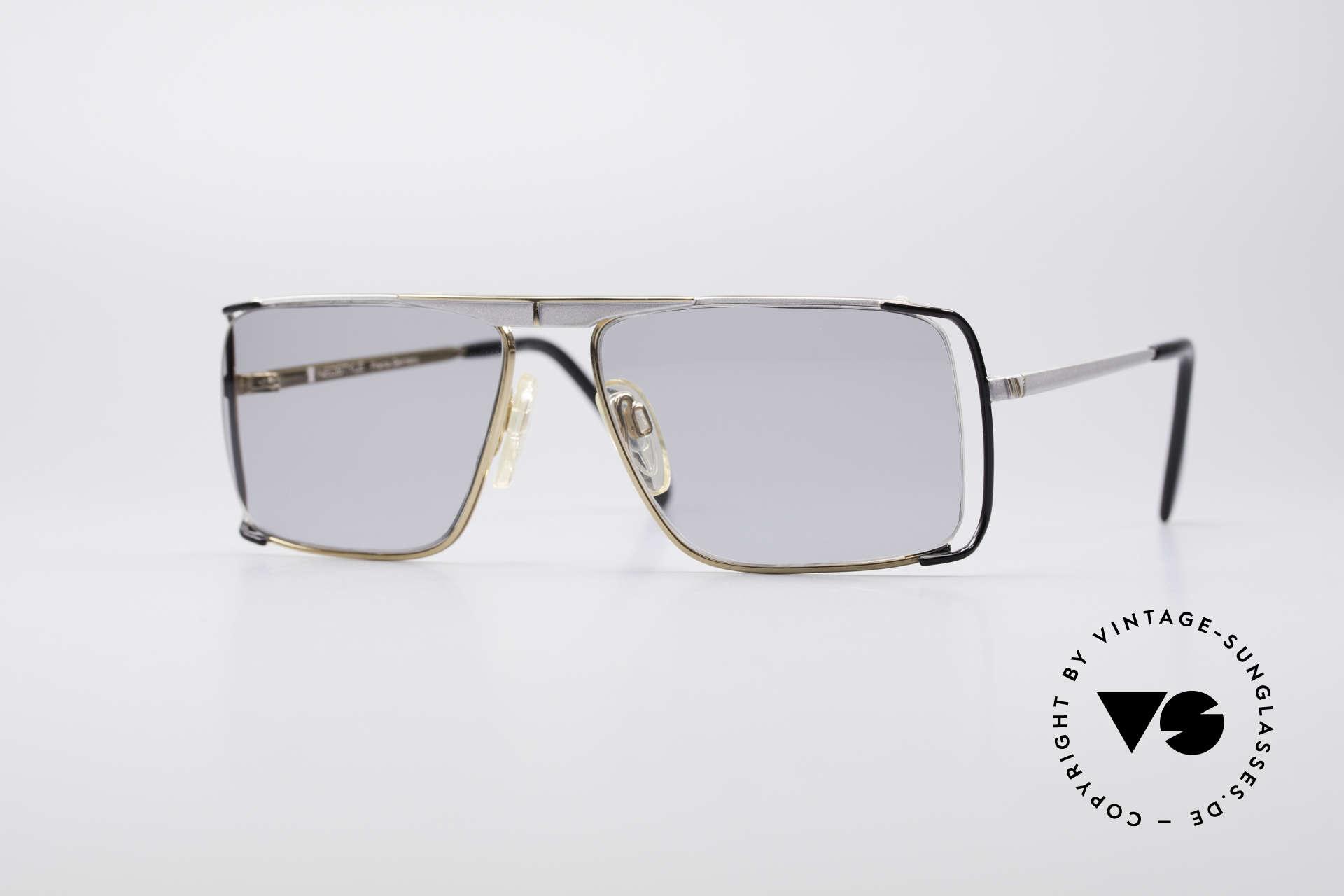 Neostyle Boutique 640 Eckige Vintage Brille, sehr markante Neostyle vintage Designer-Sonnenbrille, Passend für Herren und Damen