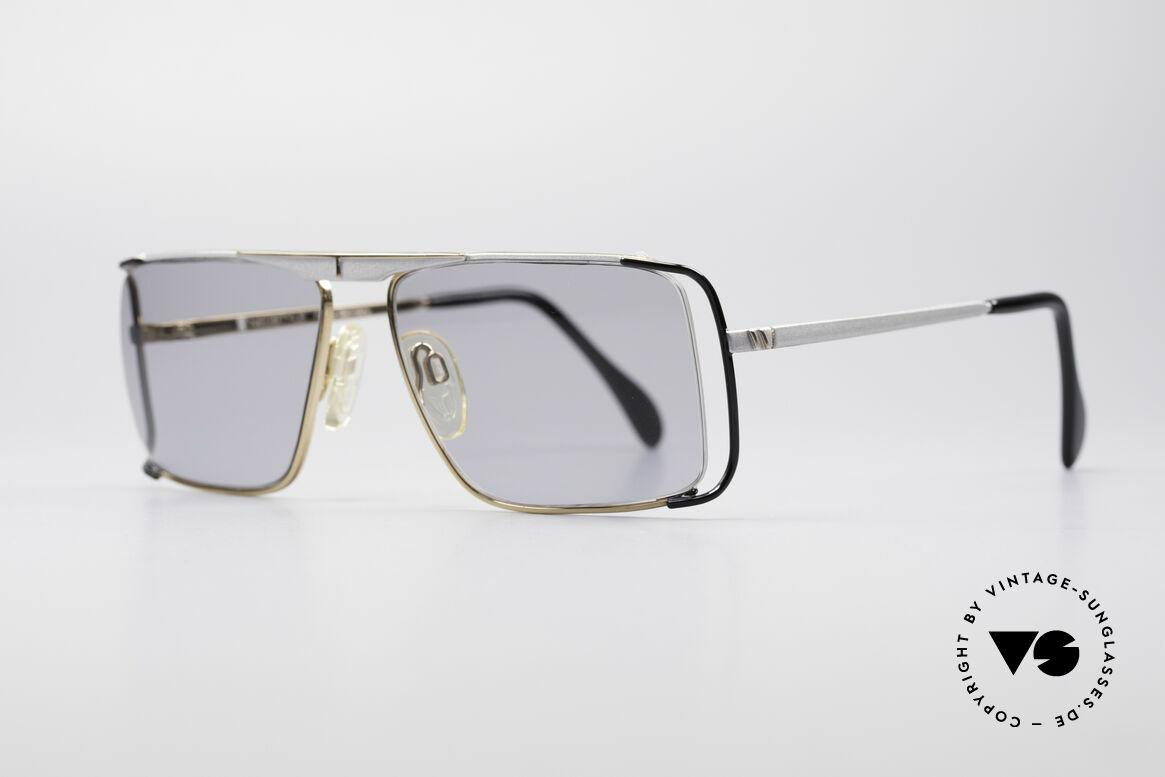 Neostyle Boutique 640 Eckige Vintage Brille, Glaseinfassung durch Nylor-Faden (enorm komfortabel), Passend für Herren und Damen