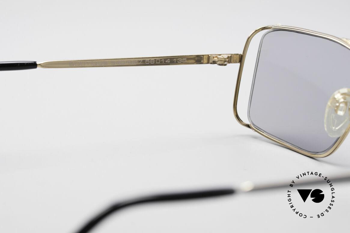 Neostyle Boutique 640 Eckige Vintage Brille, leicht grau-getönte Gläser (daher auch abends tragbar), Passend für Herren und Damen