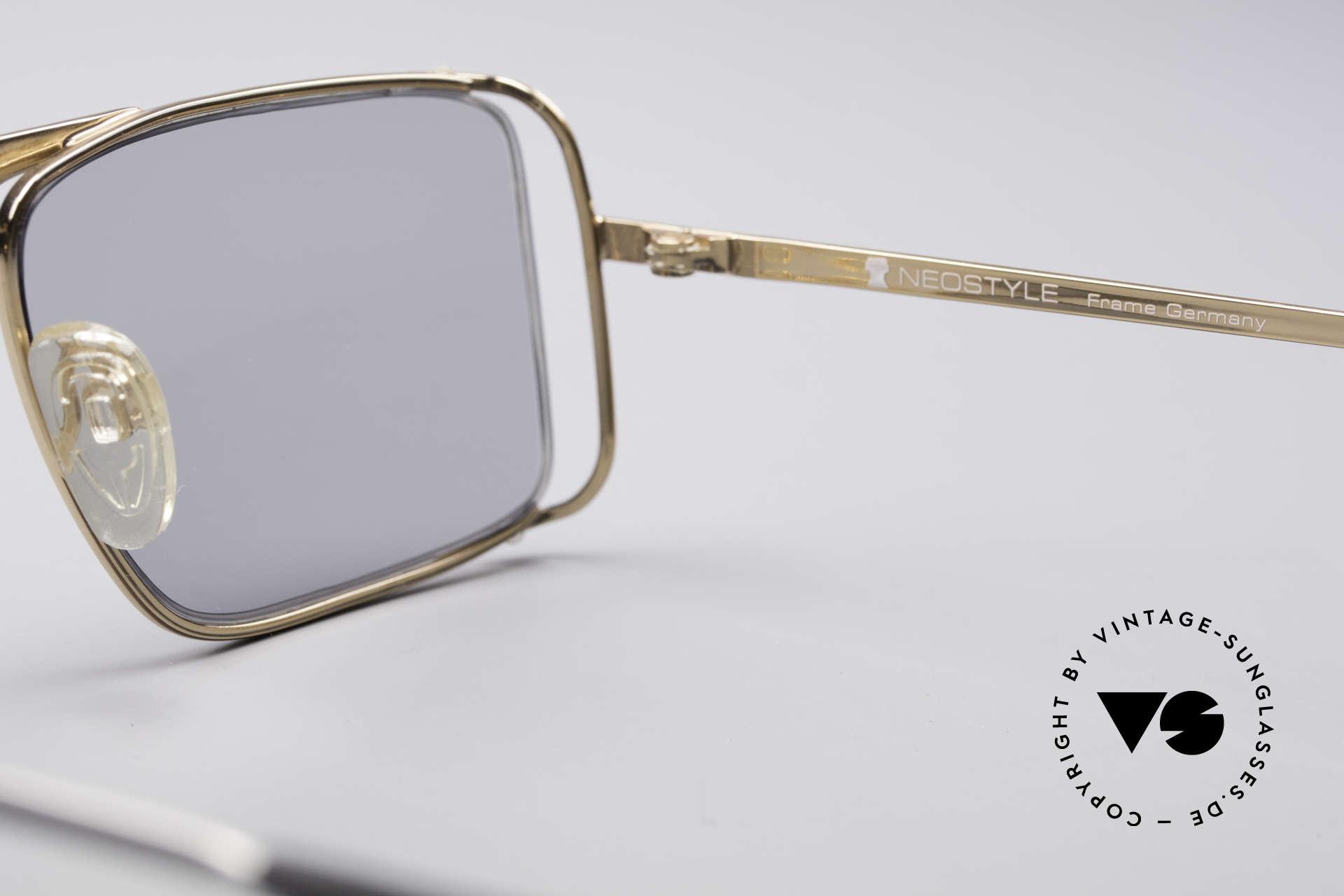 Neostyle Boutique 640 Eckige Vintage Brille, KEINE Retrobrille; ein ungetragenes Original von 1986!, Passend für Herren und Damen