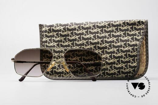 Yves Saint Laurent Aeson Vintage Sonnenbrille, Sonnen-Gläser können durch optische ersetzt werden, Passend für Herren