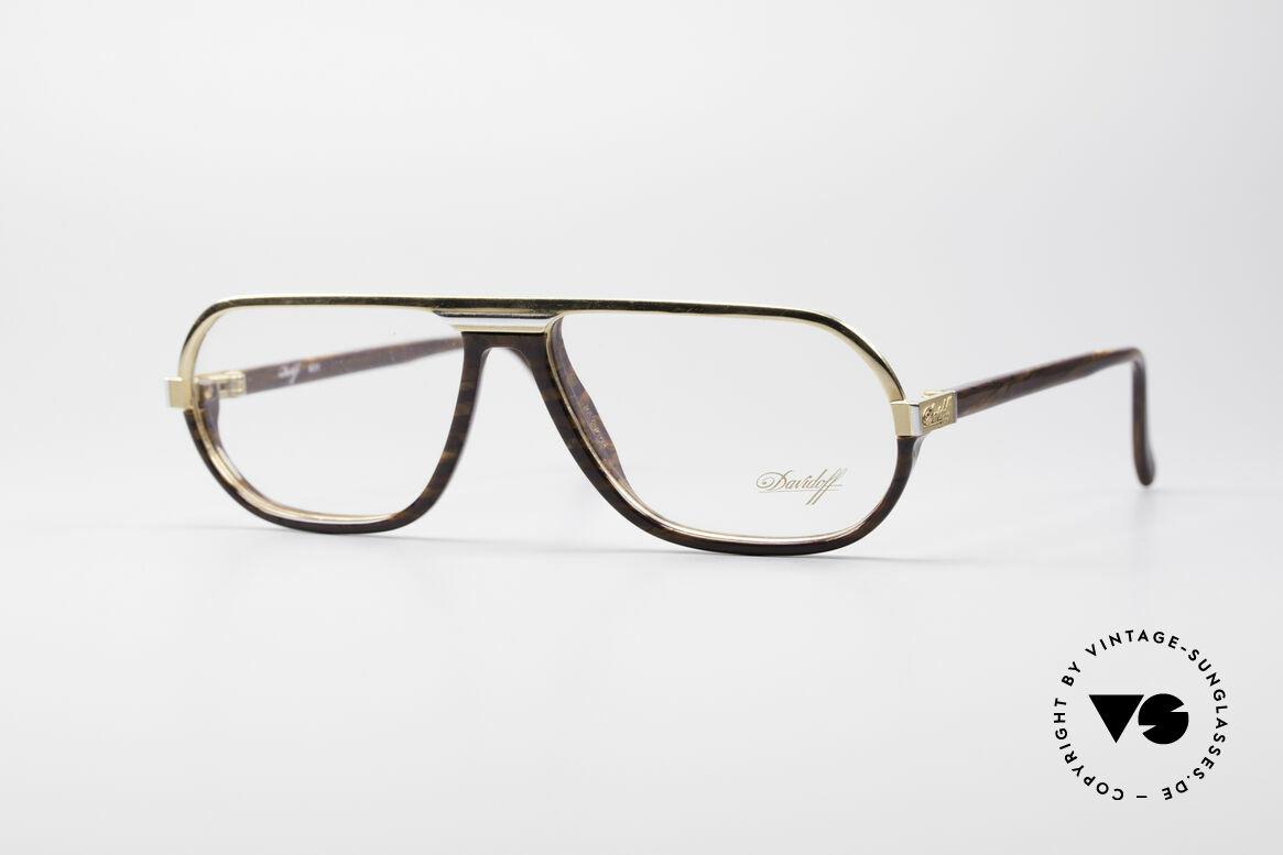 Davidoff 300 Kleine Herren Vintage Brille, edle Davidoff vintage Designer-Brillenfassung der 1990er, Passend für Herren