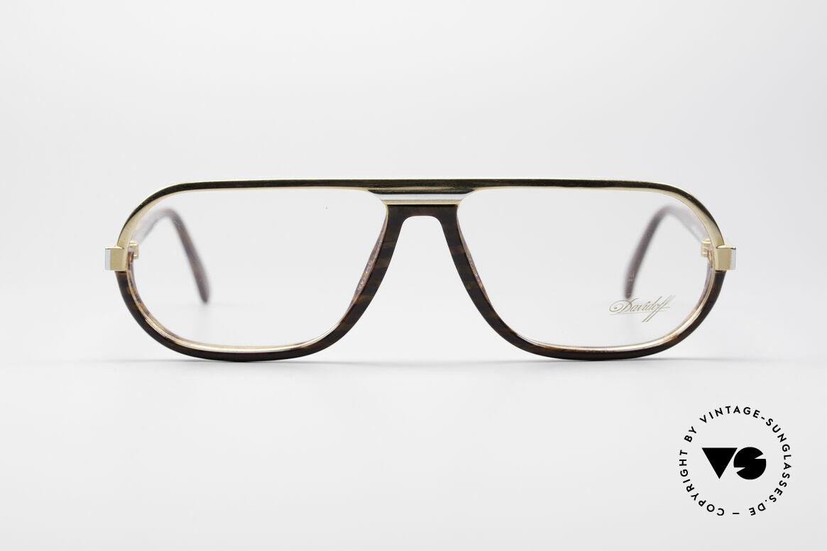 Davidoff 300 Kleine Herren Vintage Brille, solide Verarbeitung der alten Brillenkunst, Top-Qualität, Passend für Herren