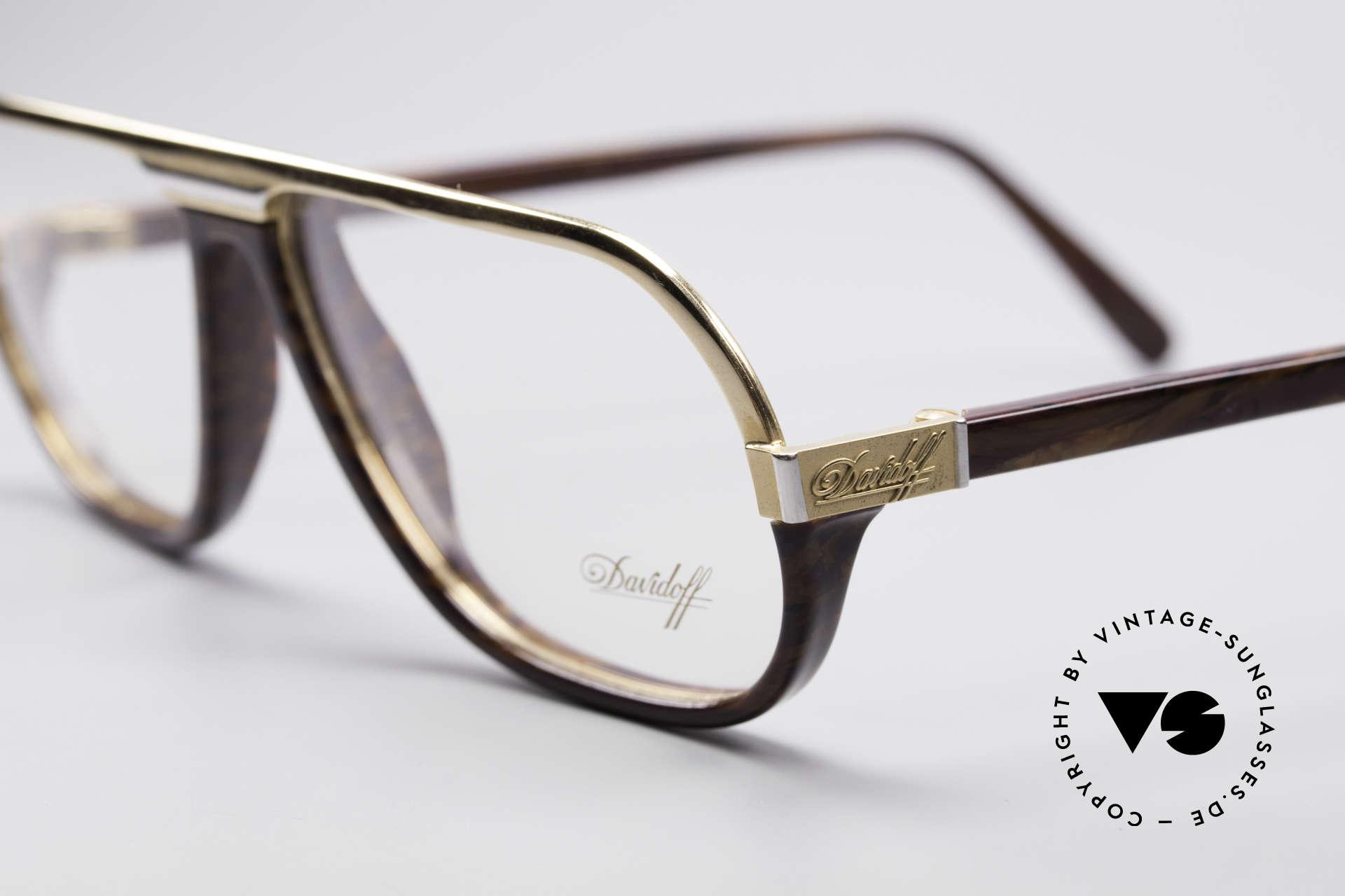 Davidoff 300 Kleine Herren Vintage Brille, Gentleman-Brille: stilvoll, elegant und zudem sehr selten, Passend für Herren