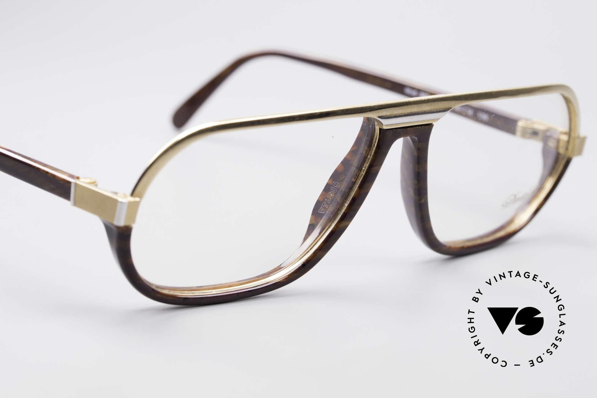 Davidoff 300 Kleine Herren Vintage Brille, ungetragen (wie alle unsere 90er Davidoff Herren-Brillen), Passend für Herren