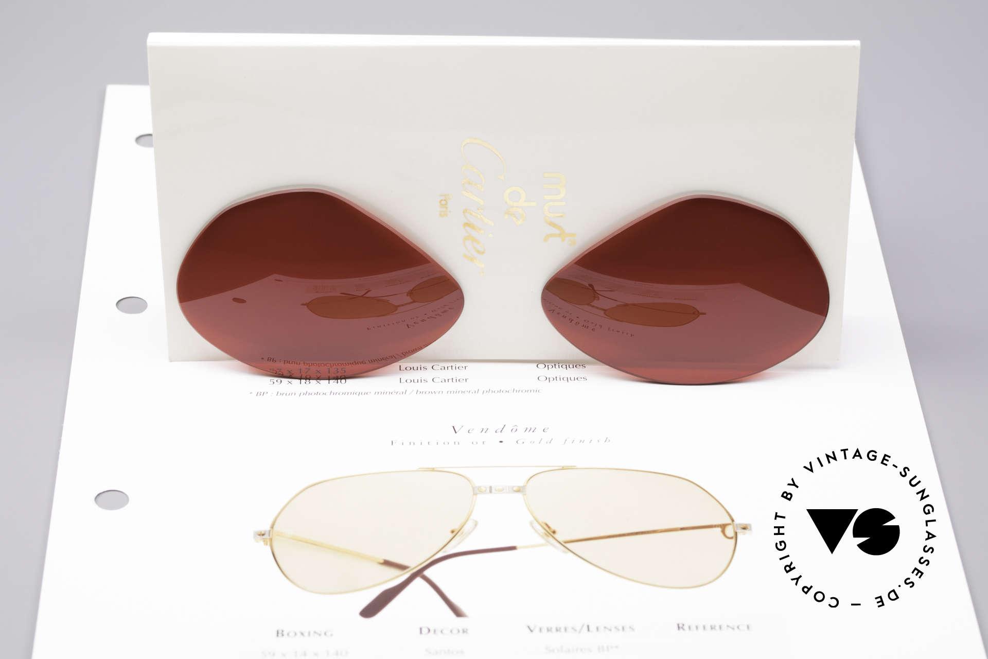 Cartier Vendome Lenses - L Sonnengläser 3D Rot, knalliges 3D-Rot = ! zum Autofahren NICHT geeignet !, Passend für Herren