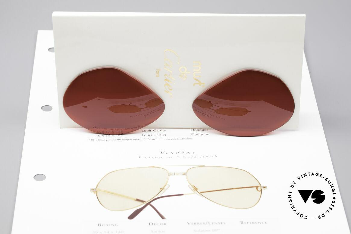 Cartier Vendome Lenses - L Sonnengläser 3D Rot