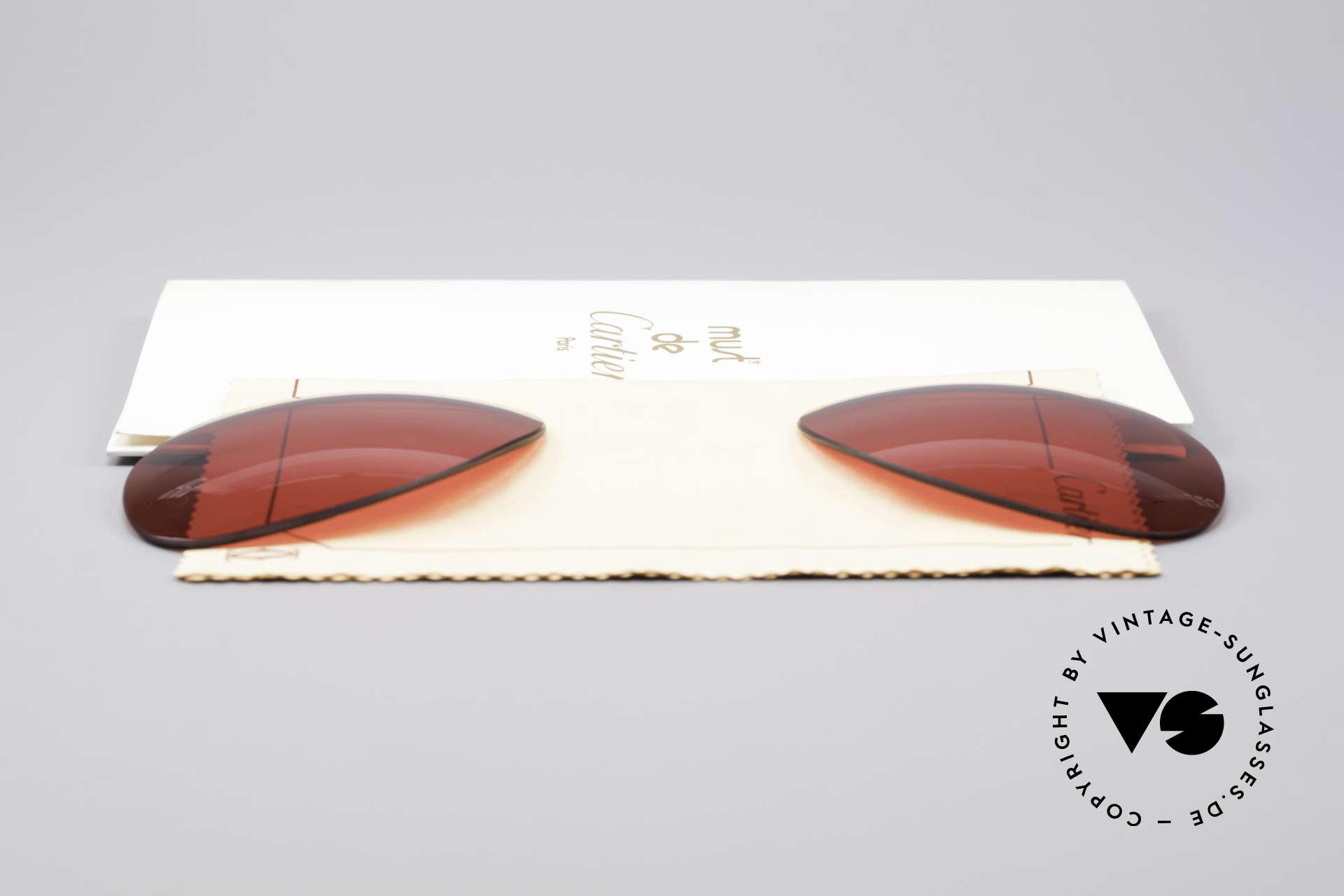 Cartier Vendome Lenses - L Sonnengläser 3D Rot, von unserem Optiker gefertigt: daher neu & kratzerfrei, Passend für Herren