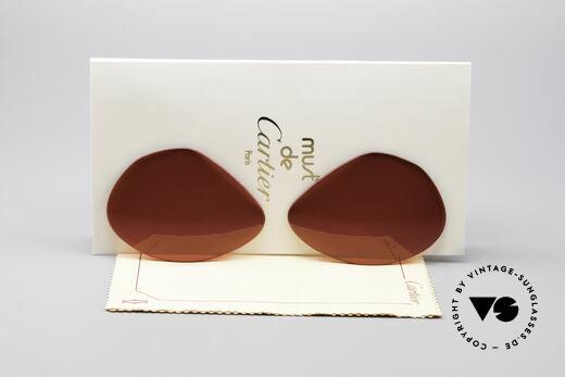 Cartier Vendome Lenses - L Sonnengläser 3D Rot Details