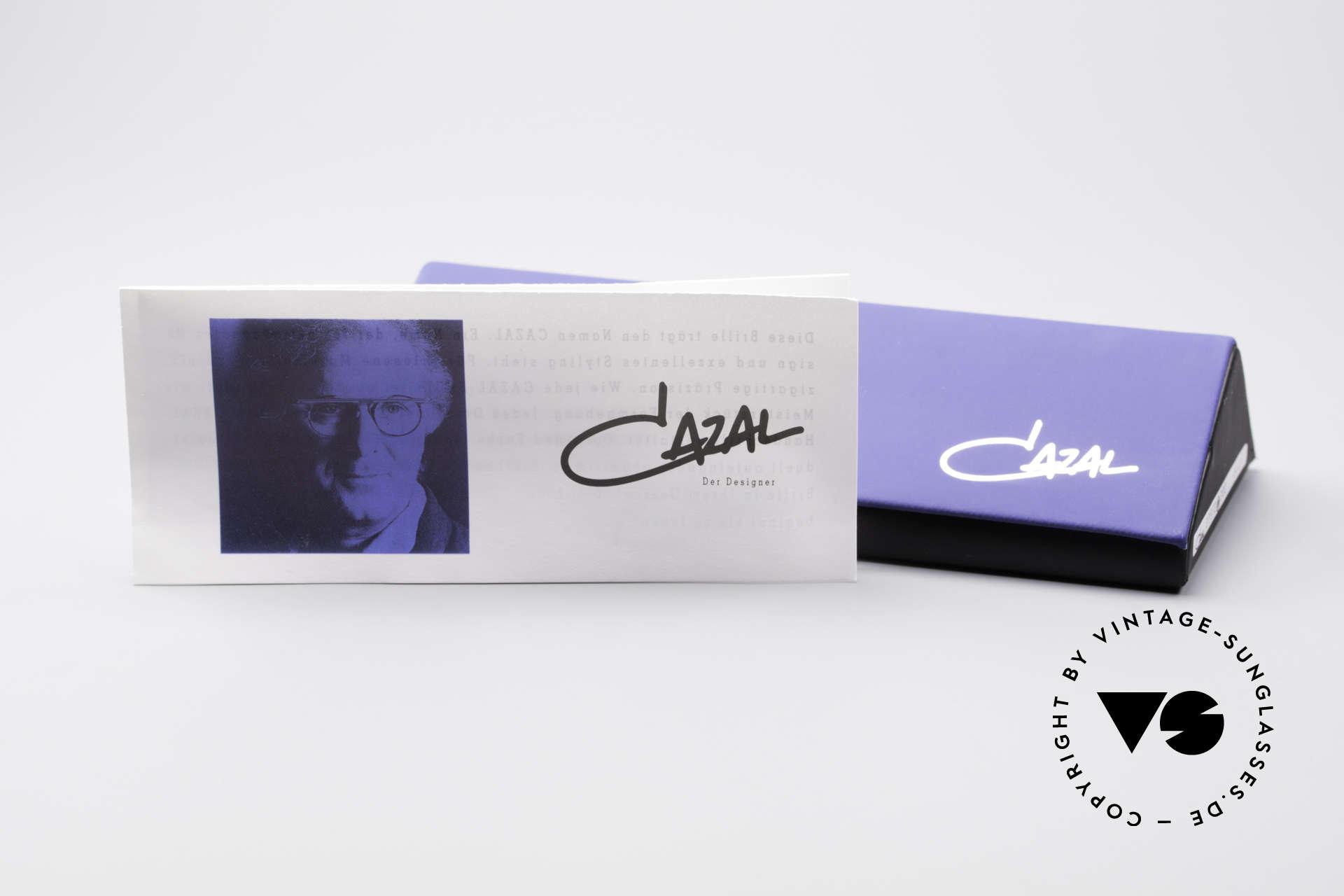 Cazal 975 Vintage 90er Designer Brille, die Demogläser können durch optische ersetzt werden, Passend für Herren