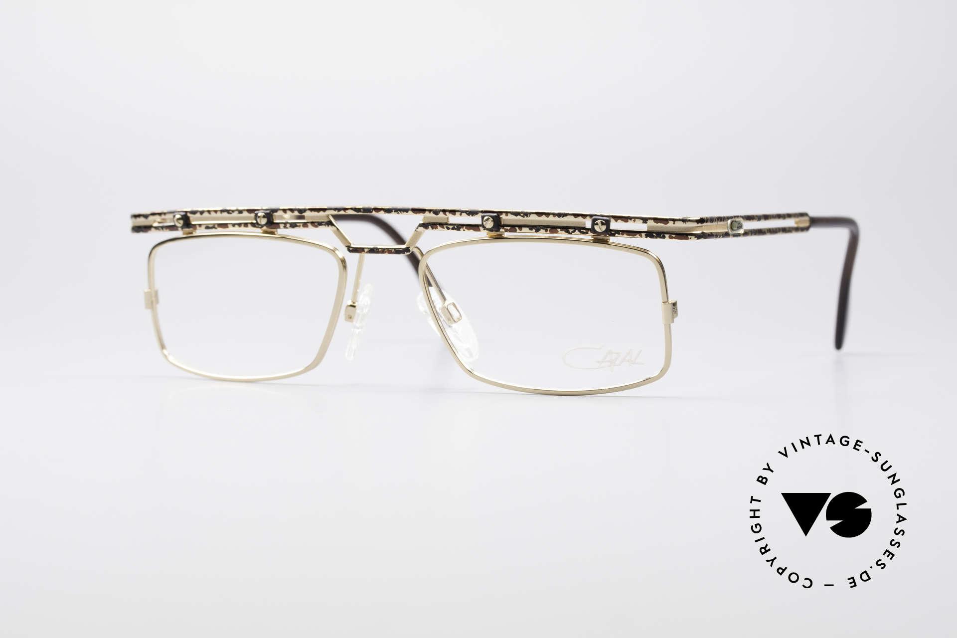 Cazal 975 Echt Vintage No Retro Brille, sehr markante Cazal Designerbrille von ca. 1996/97, Passend für Herren