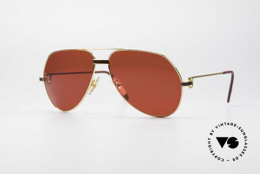 Cartier Vendome Laque - L Luxus Aviator Sonnenbrille Details