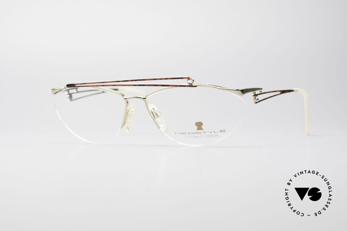 Neostyle Jet 221 Schmuckstein Vintage Brille, zauberhafte vintage 80er Damenbrille von NEOSTYLE, Passend für Damen