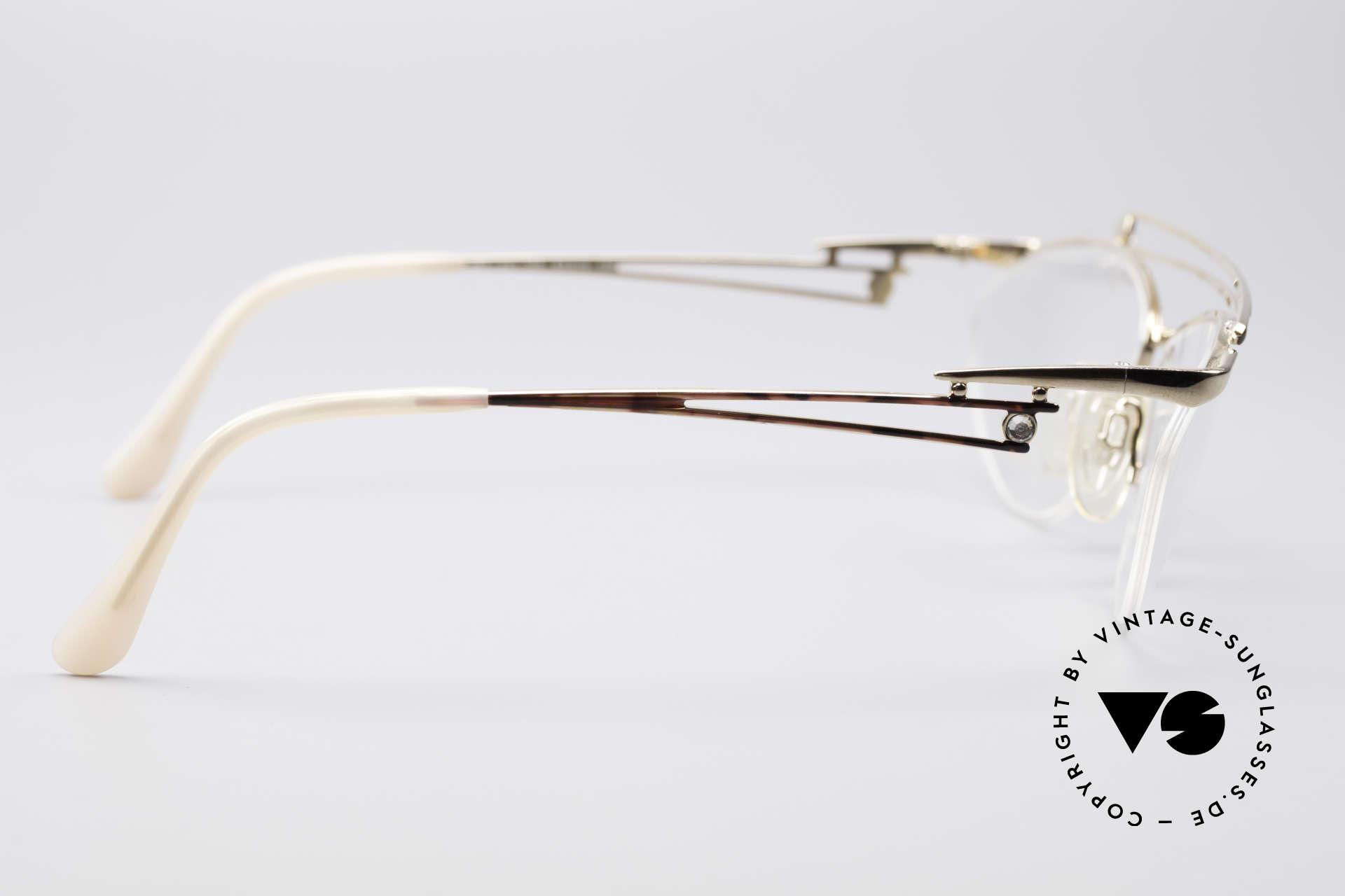 Neostyle Jet 221 Schmuckstein Vintage Brille, KEINE Retromode, sondern ein 80er Jahre ORIGINAL!, Passend für Damen