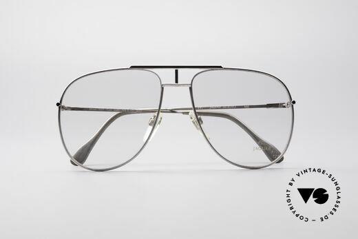 Jaguar 327 80er Vintage Herren Brille, die Demogläser können beliebig ersetzt werden, Passend für Herren