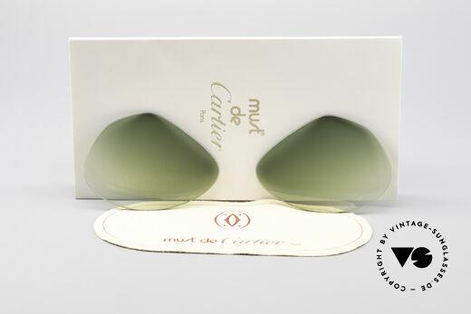 Cartier Vendome Lenses - L Sonnengläser Grün Verlauf Details