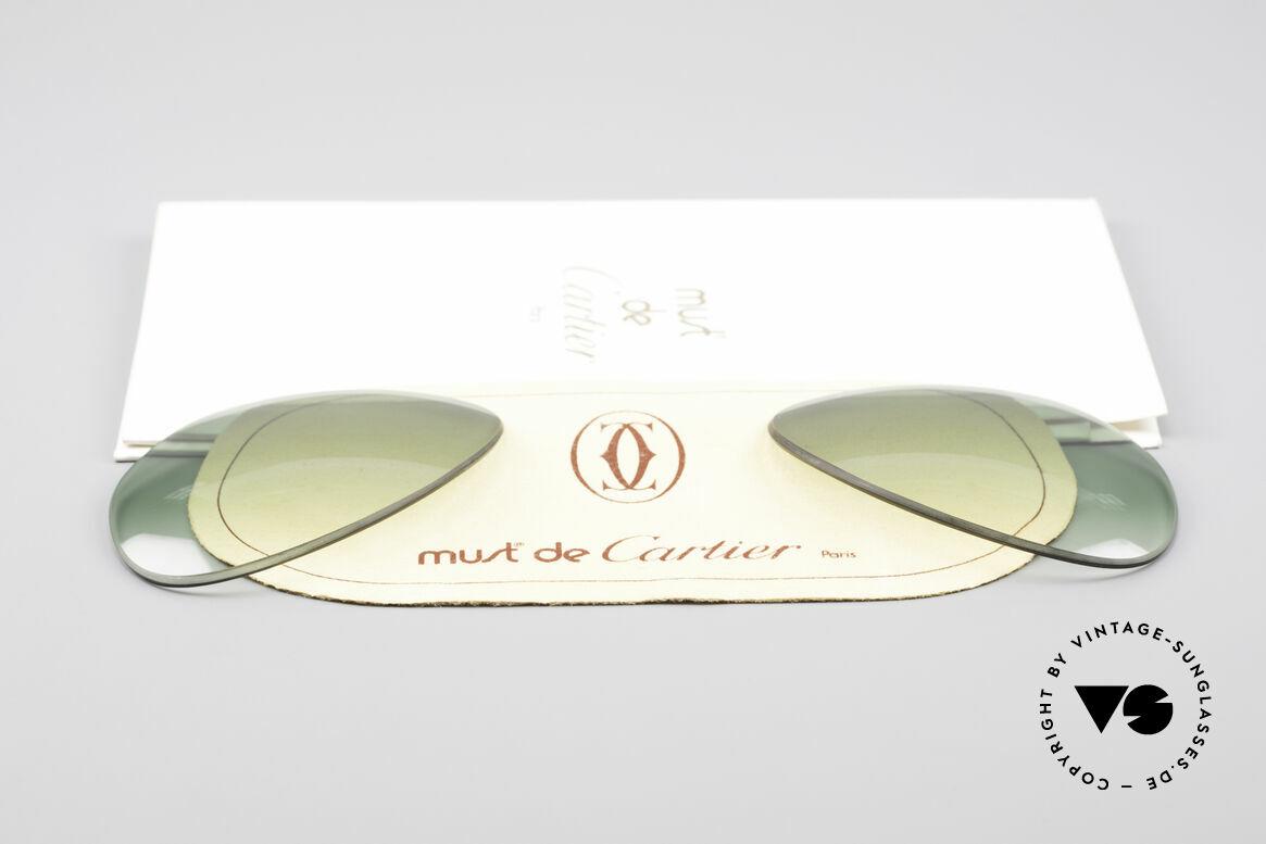 Cartier Vendome Lenses - L Sonnengläser Grün Verlauf, von unserem Optiker gefertigt: daher neu & kratzerfrei, Passend für Herren