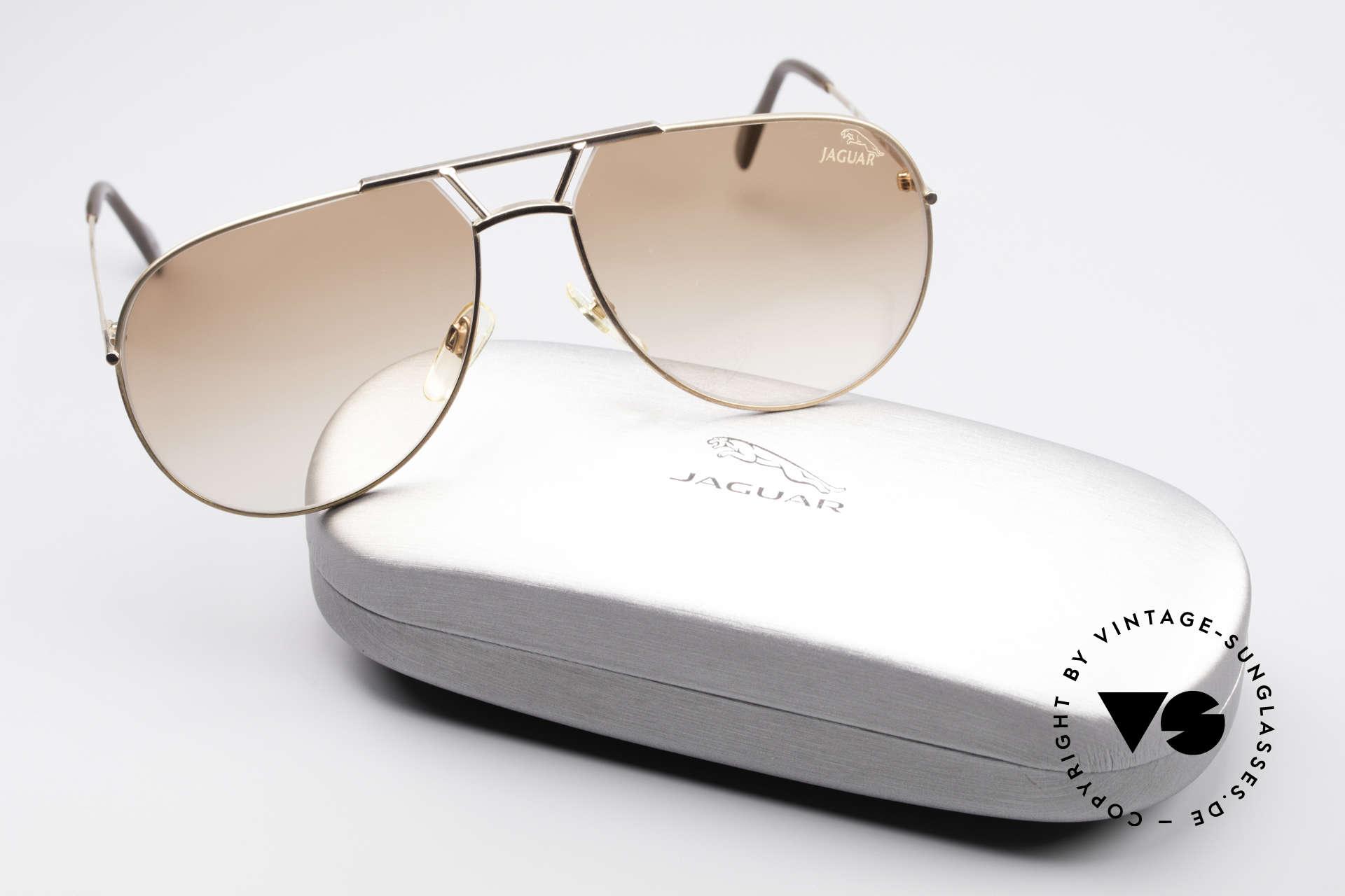 Jaguar 795 Vintage Herren Sonnenbrille, orig. Sonnengläser können ggf. auch ersetzt werden, Passend für Herren