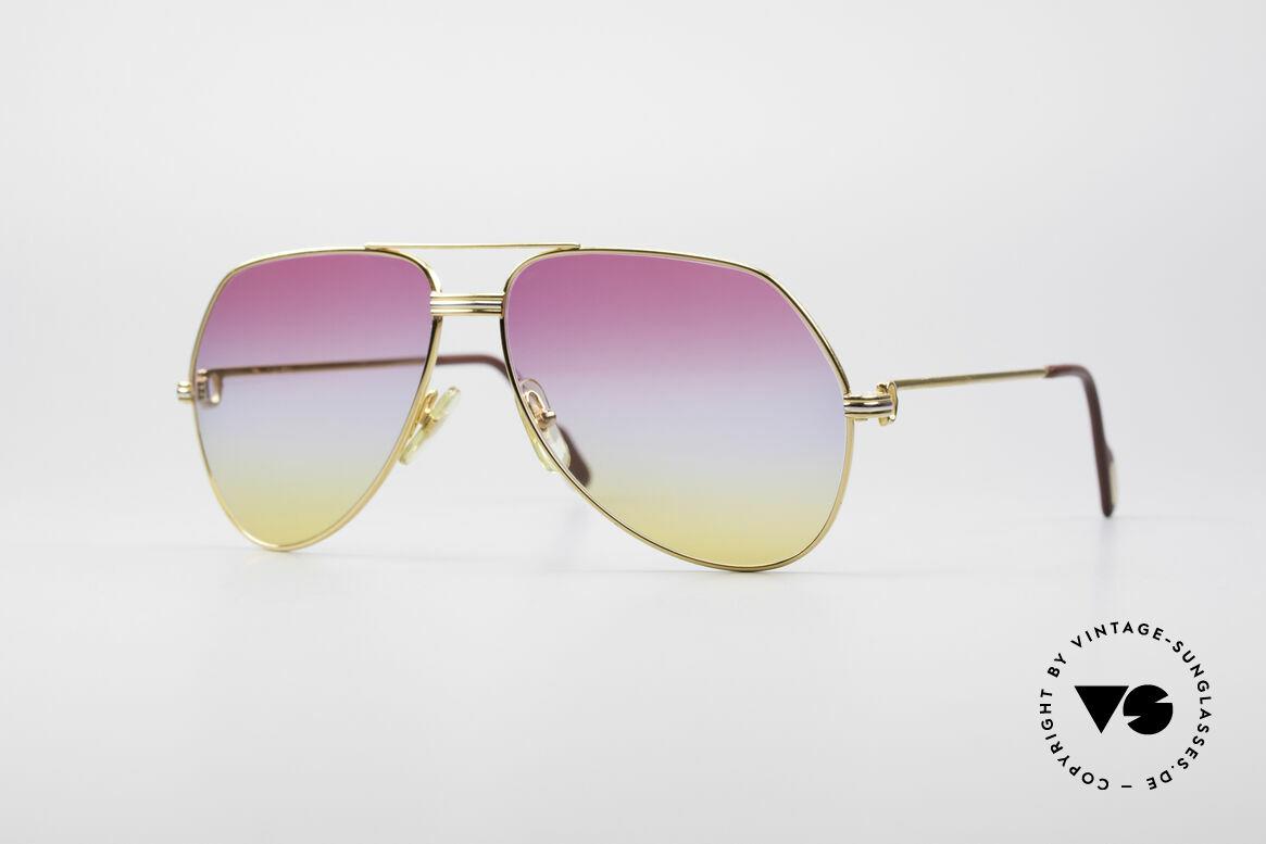Cartier Vendome LC - L Rare Luxus Vintage Brille, Vendome = das berühmteste Brillendesign von Cartier, Passend für Herren und Damen