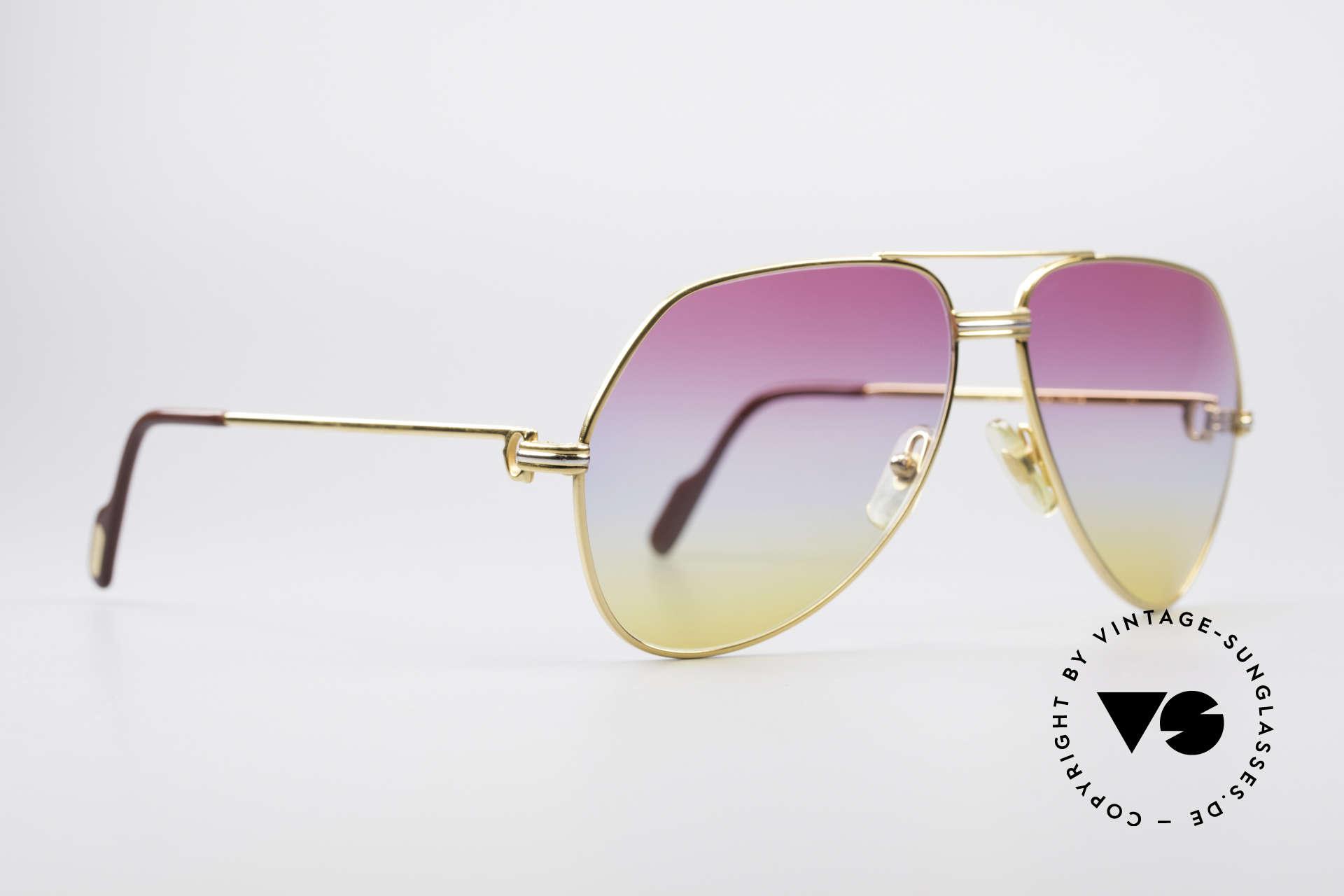 Cartier Vendome LC - L Rare Luxus Vintage Brille, dieses Modell mit LC-Dekor in LARGE Größe 62-14, 140, Passend für Herren und Damen