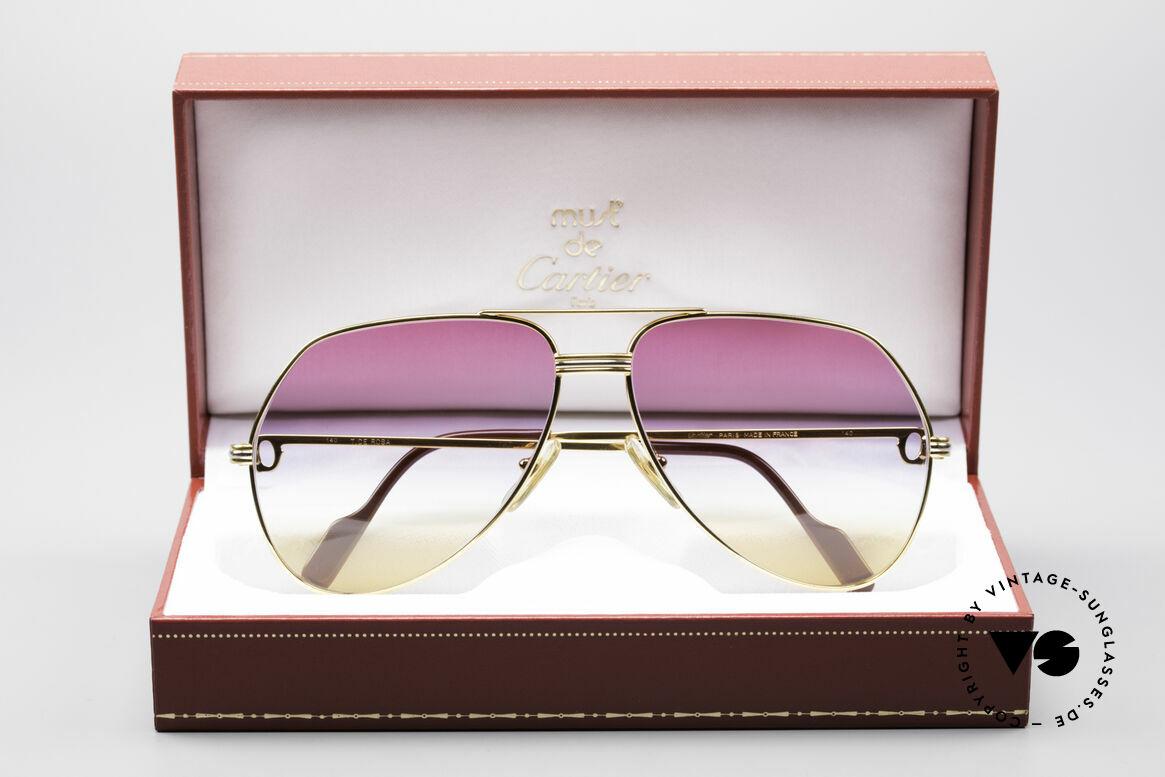 Cartier Vendome LC - L Rare Luxus Vintage Brille, Dreifach-Farbverlauf der Gläser wie ein Sonnenaufgang, Passend für Herren und Damen