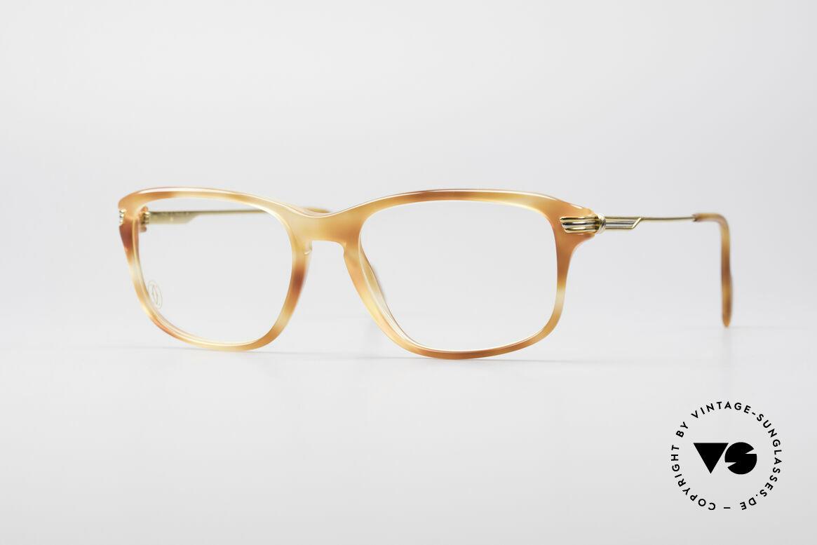 """Cartier Lumen - S 90er Luxus Vintagebrille, vintage Luxusbrille aus der Cartier """"Combinées""""-Serie, Passend für Herren und Damen"""