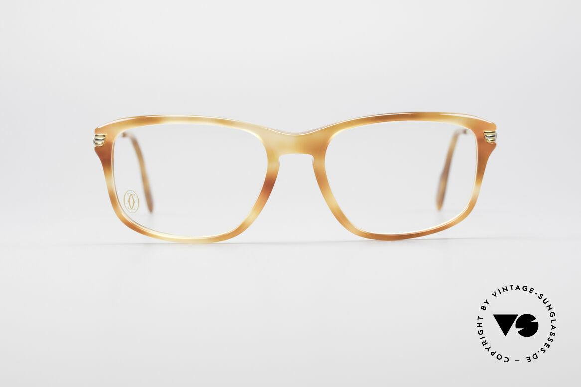 """Cartier Lumen - S 90er Luxus Vintagebrille, 22kt vergoldet und Rahmenmuster """"blond marmoriert"""", Passend für Herren und Damen"""