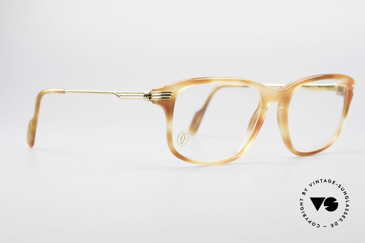 Cartier Lumen - S 90er Luxus Vintagebrille, ein edles Original in kleiner Gr. 54°18 (130mm Breite), Passend für Herren und Damen