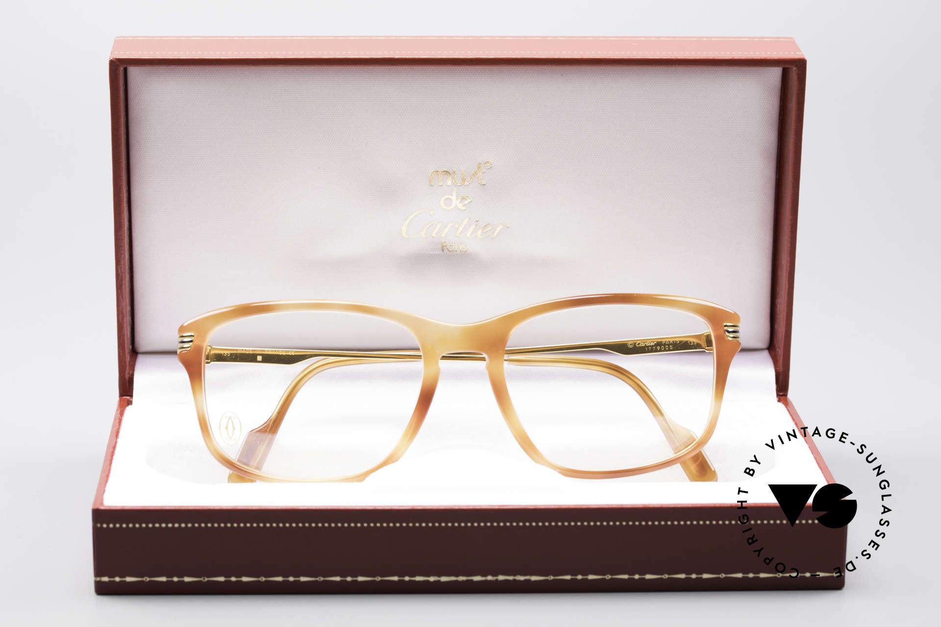 Cartier Lumen - S 90er Luxus Vintagebrille, Modellname 'Lumen' ist lateinisch für Licht / Leuchte, Passend für Herren und Damen