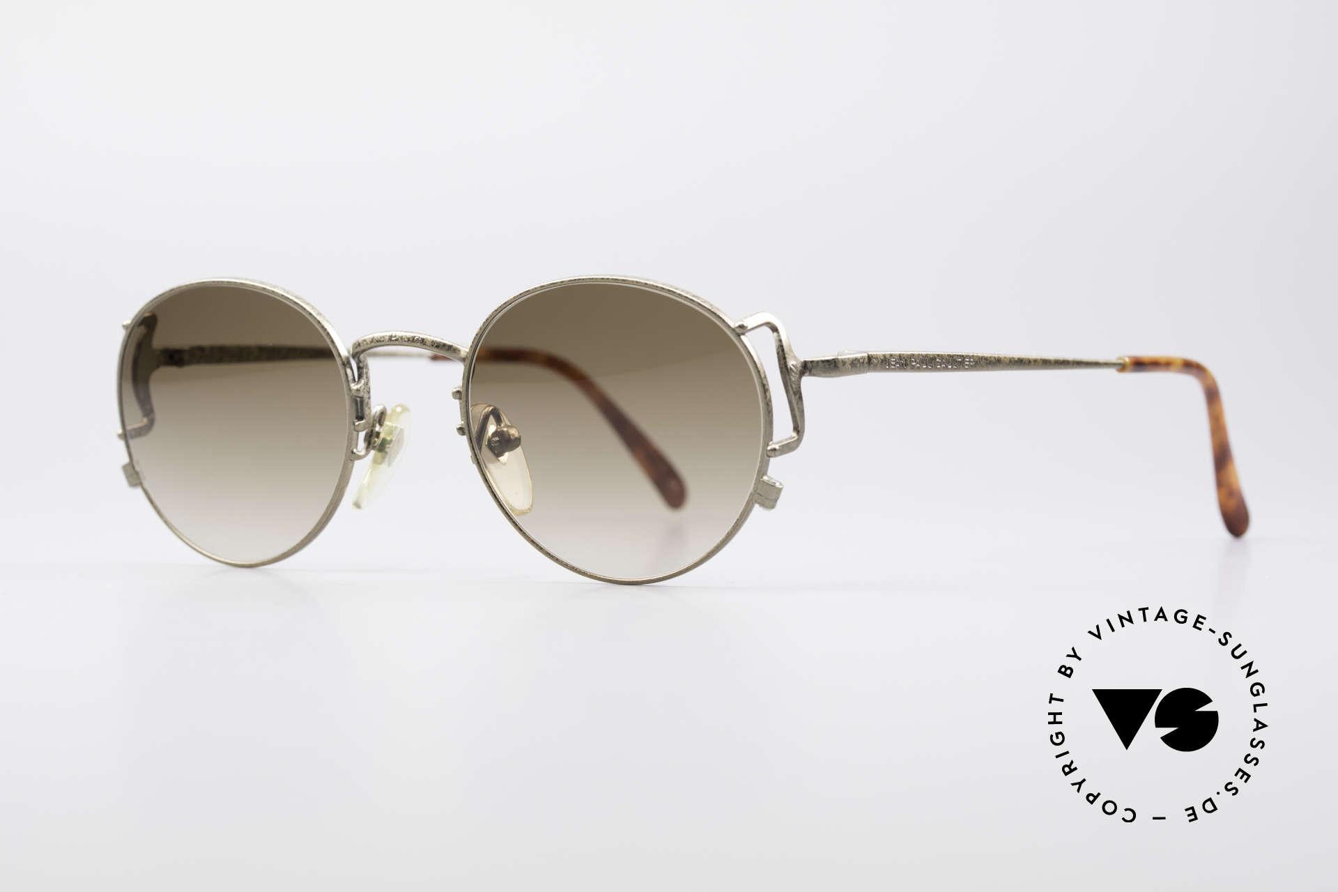 Jean Paul Gaultier 55-3178 90er Vintage No Retro Brille, hellbraune Verlaufsgläser (100% UV Protection), Passend für Herren und Damen