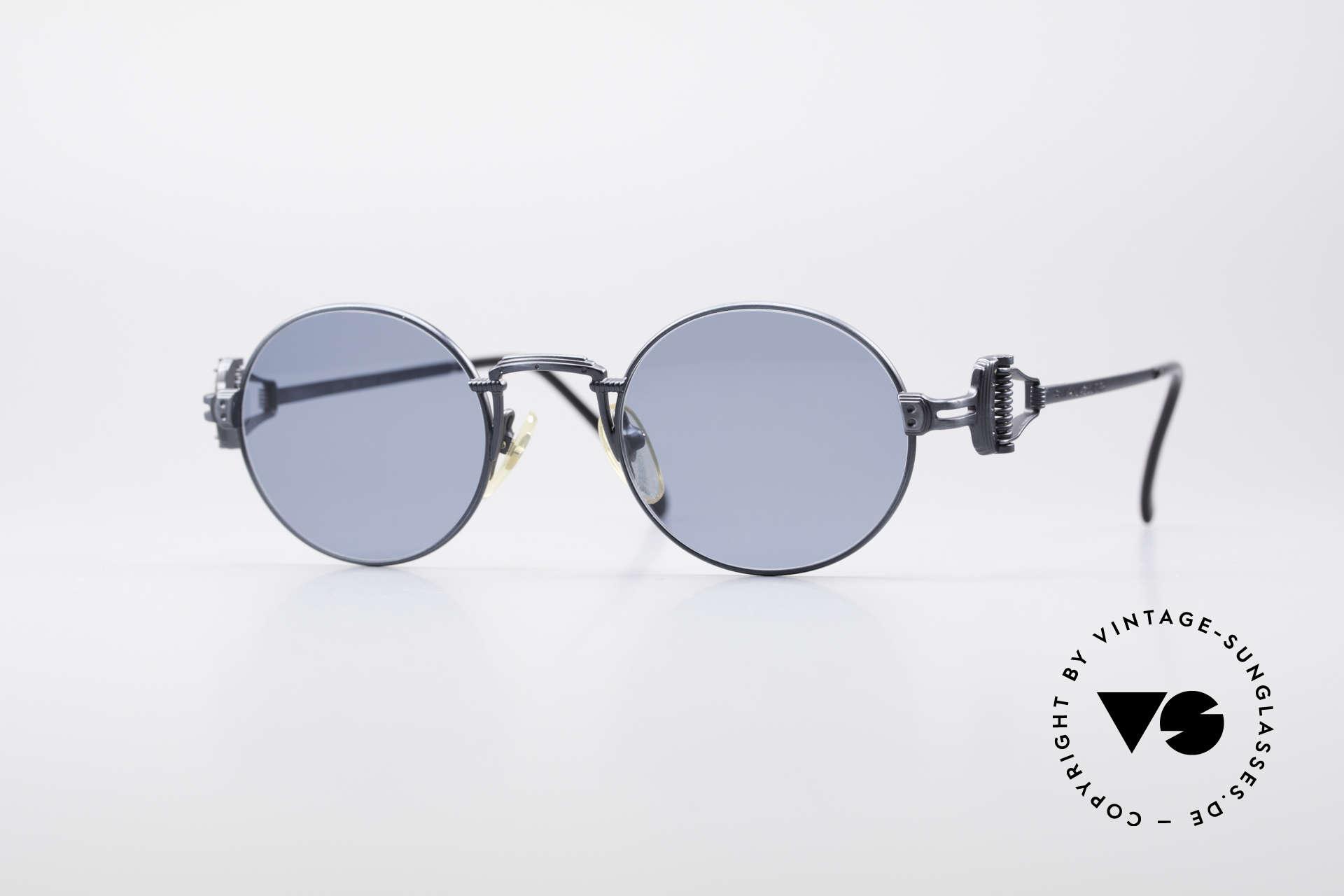 Jean Paul Gaultier 55-5106 Steampunk Vintage Brille JPG, kostbare Jean Paul Gaultier Sonnenbrille von ca. 1994, Passend für Herren und Damen