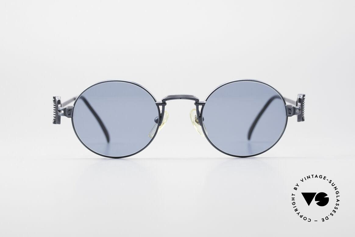Jean Paul Gaultier 55-5106 Steampunk Vintage Brille JPG, leichtes Gestell mit großartigen Details (Bügelansatz), Passend für Herren und Damen