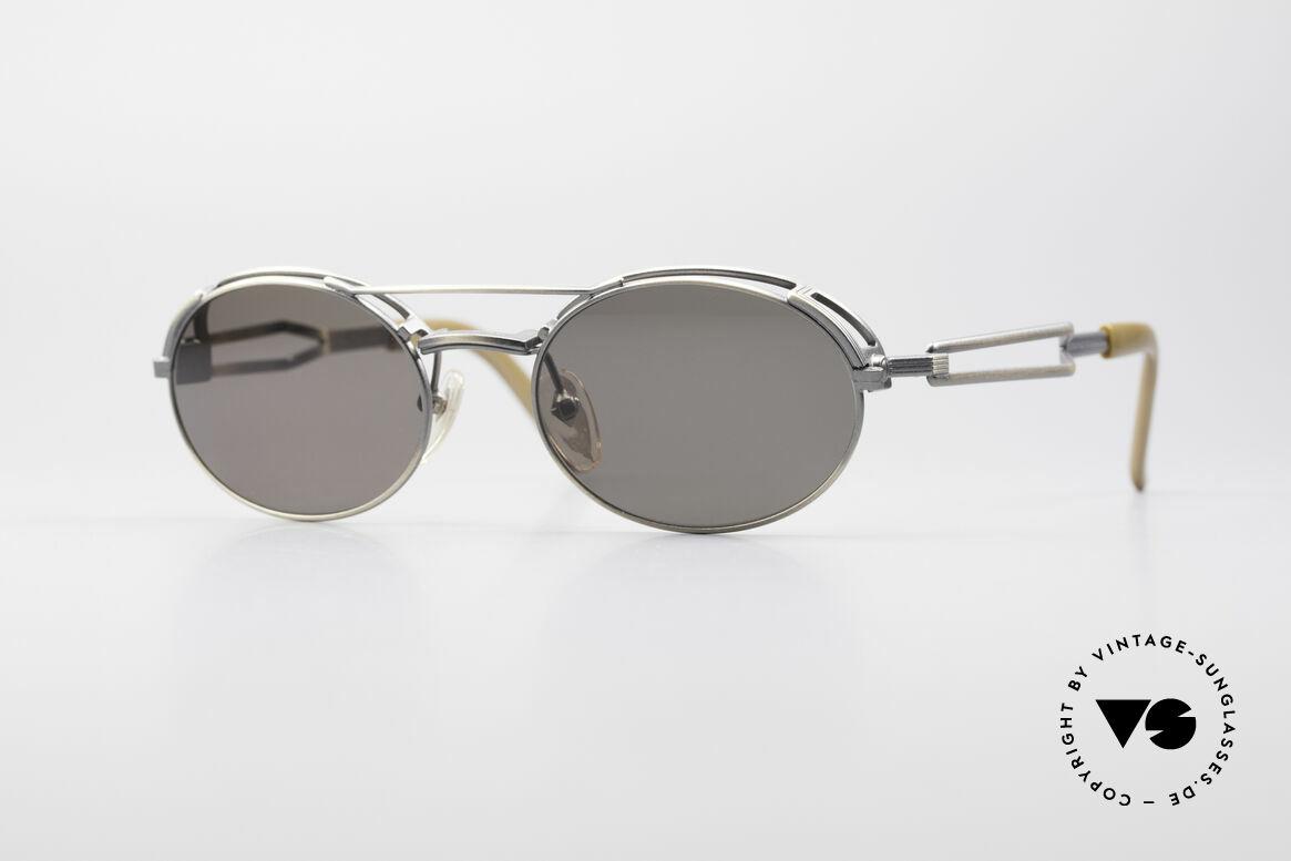 Jean Paul Gaultier 56-7107 Industrial Vintage Brille, einzigartige vintage Sonnenbrille von Jean Paul Gaultier, Passend für Herren und Damen