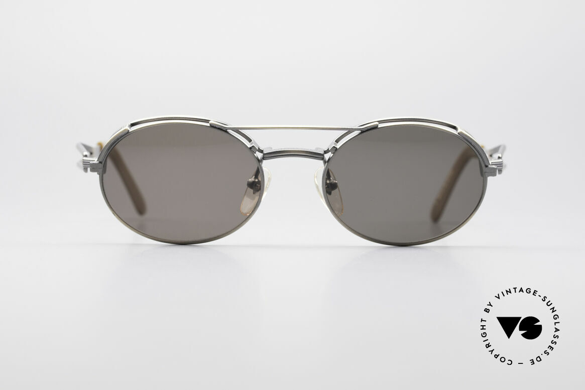 Jean Paul Gaultier 56-7107 Industrial Vintage Brille, rare Designersonnenbrille mit vielen besonderen Details, Passend für Herren und Damen