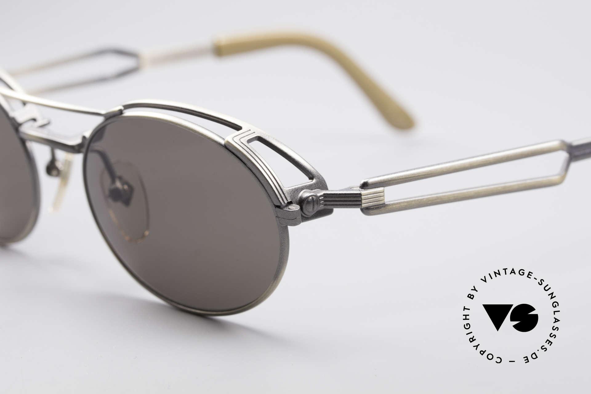 Jean Paul Gaultier 56-7107 Industrial Vintage Brille, echte TOP-Qualität; made in Japan (wie aus einem Guss), Passend für Herren und Damen