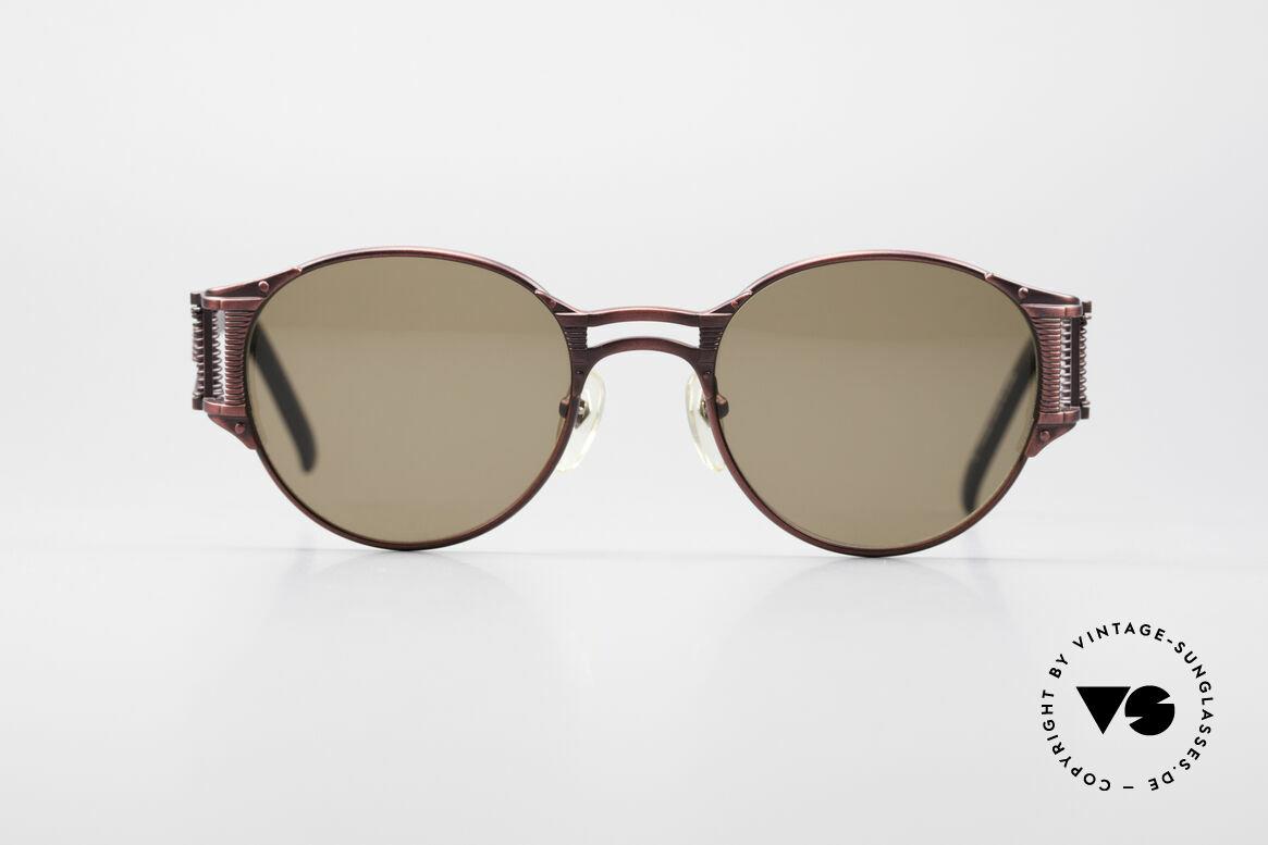 Jean Paul Gaultier 56-5105 Rare Celebrity Sonnenbrille, tolle Designersonnenbrille mit vielen besonderen Details, Passend für Herren und Damen