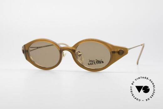 Jean Paul Gaultier 56-7202 Ovale Brille mit Sonnenclip Details