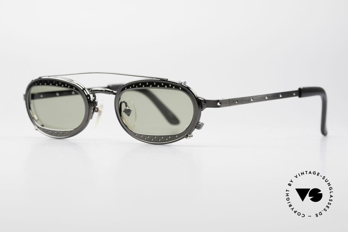 Jean Paul Gaultier 56-7116 Limitierte 98 Vintage Brille, genialer Clip (Einsatz von optischen Gläsern möglich), Passend für Herren und Damen