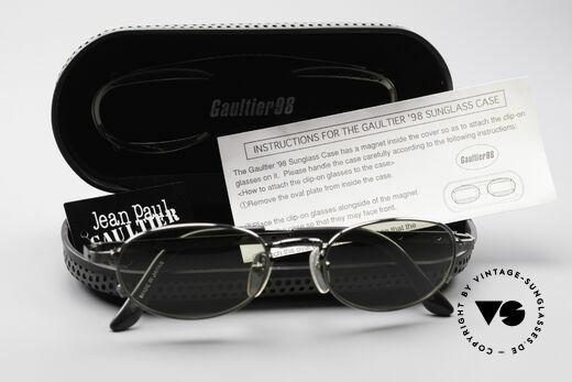 Jean Paul Gaultier 56-7116 Limitierte 98 Vintage Brille, KEINE Retromode; ein vollständiges Original von 1998!, Passend für Herren und Damen