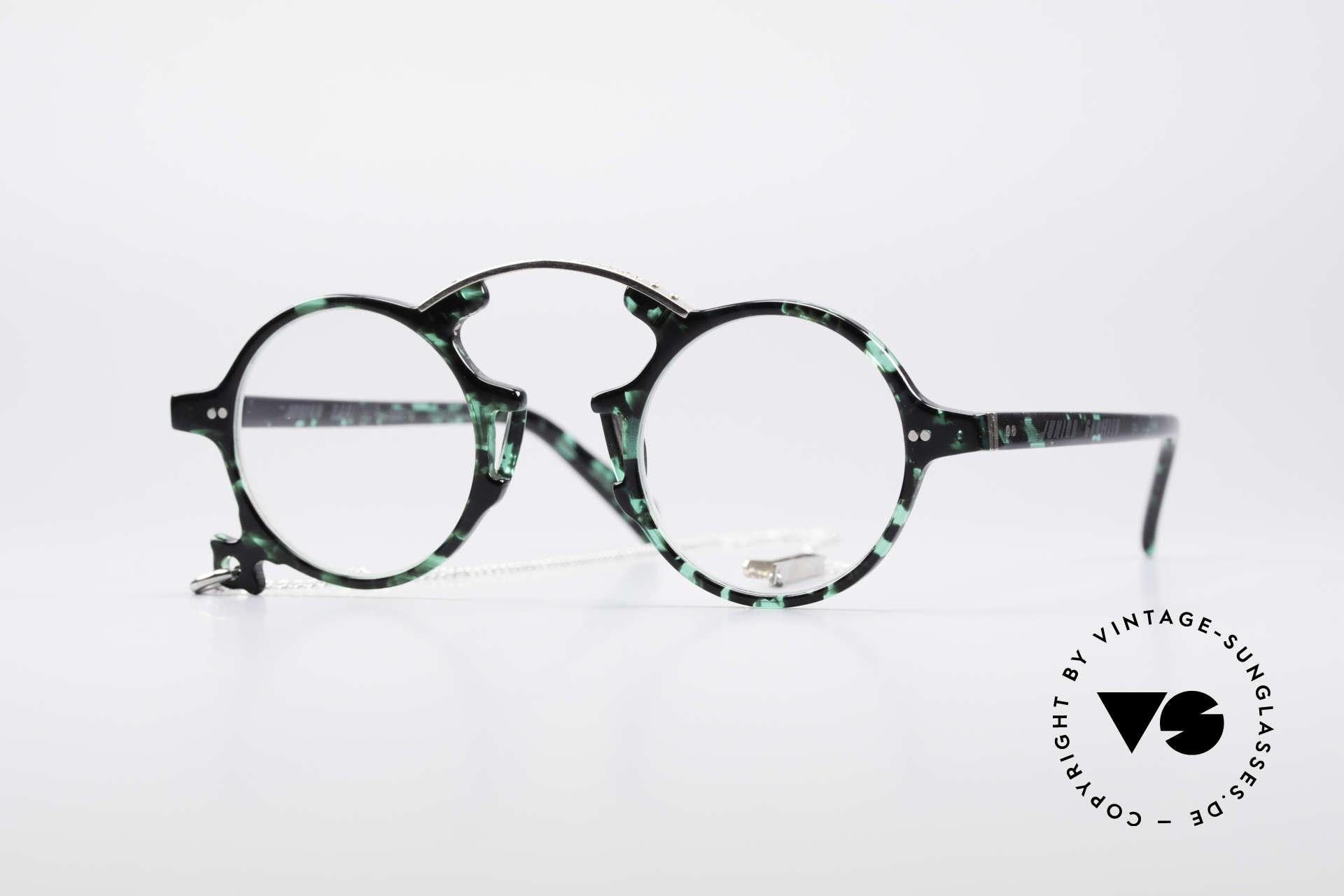 Jean Paul Gaultier 58-0271 Steampunk Vintage Brille, runde vintage Jean Paul Gaultier Designer-Fassung, Passend für Herren und Damen