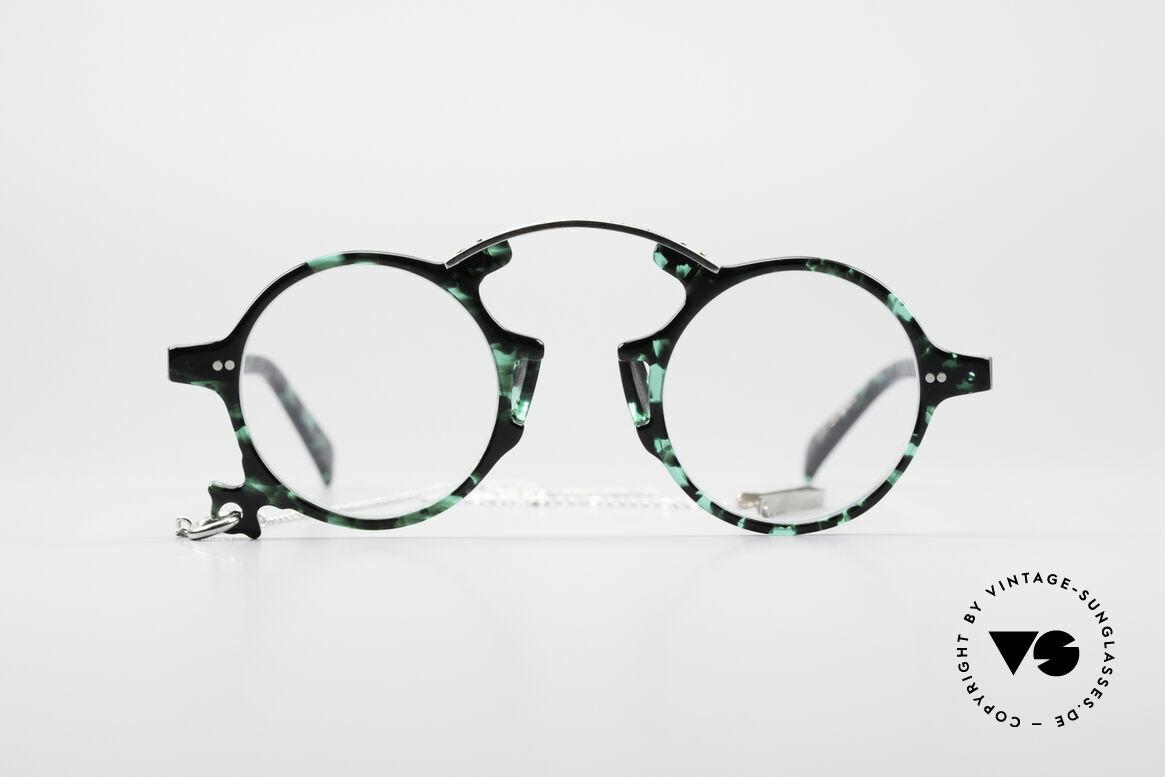 Jean Paul Gaultier 58-0271 Steampunk Vintage Brille, spektakuläres Modell der JUNIOR GAULTIER Serie!, Passend für Herren und Damen