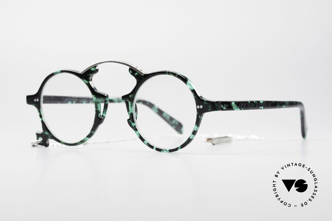 Jean Paul Gaultier 58-0271 Steampunk Vintage Brille, echtes Designerstück in einzigartiger Rahmenfarbe, Passend für Herren und Damen